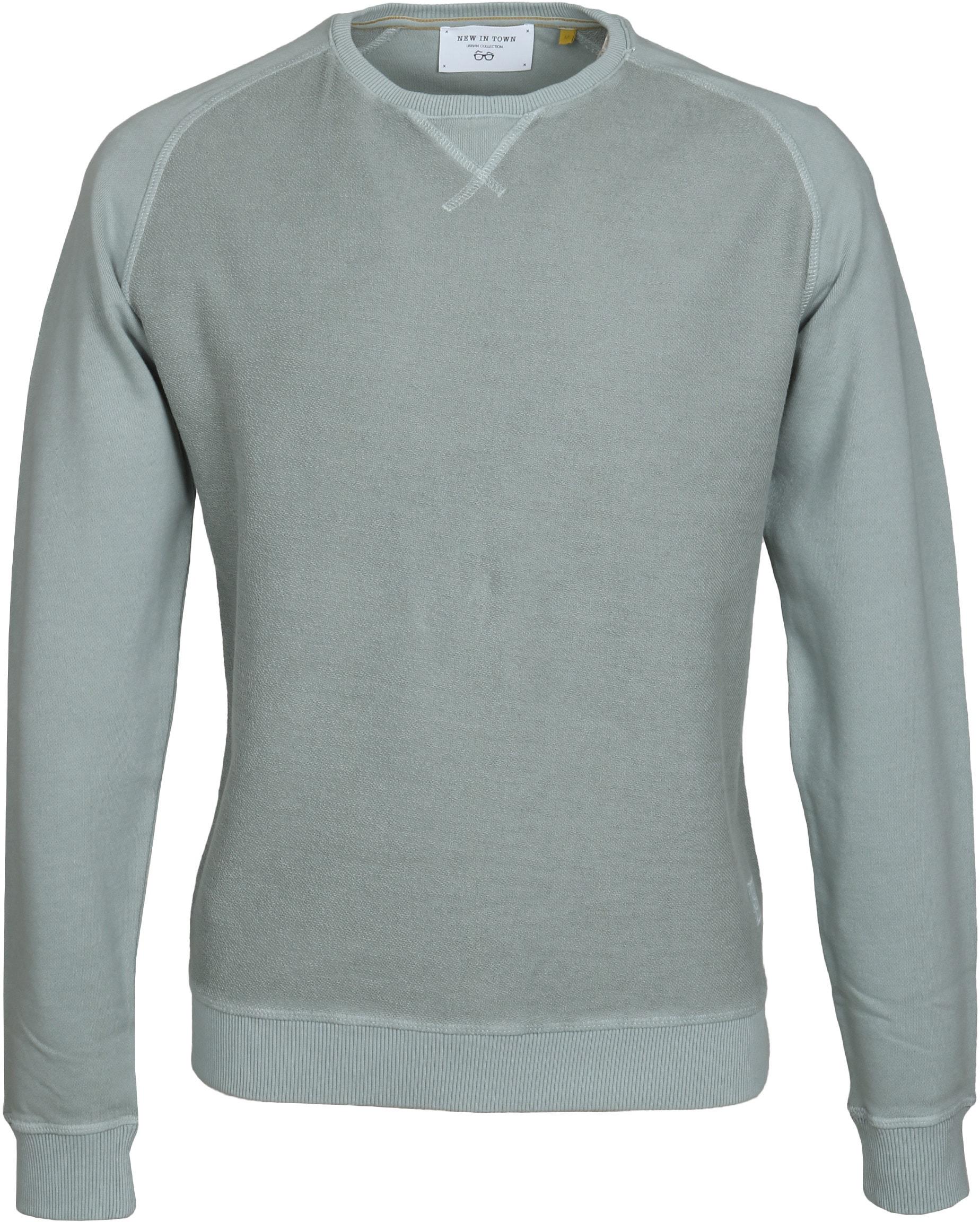 New In Town Sweater Groen foto 0