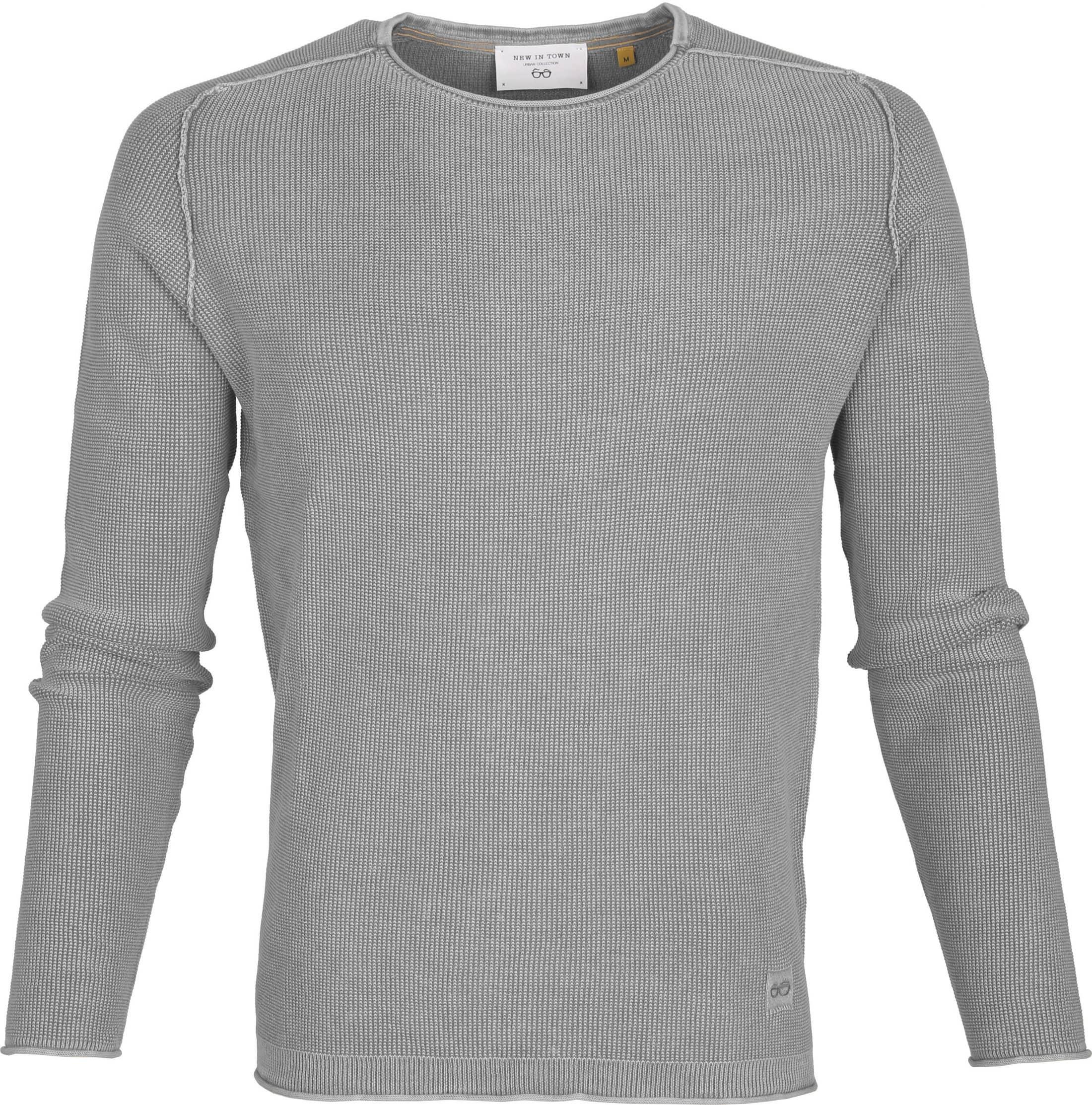 New In Town Sweater Strick Grijs foto 0