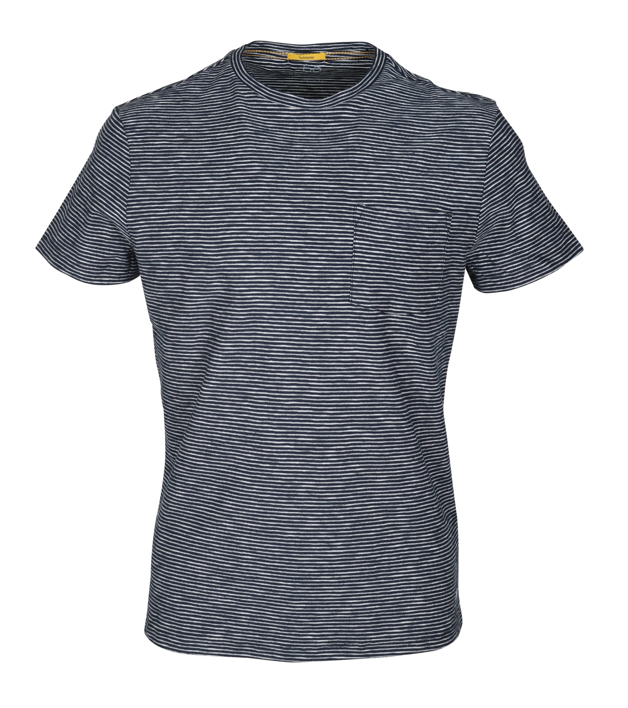 New in Town T-shirt Navy Streep foto 0