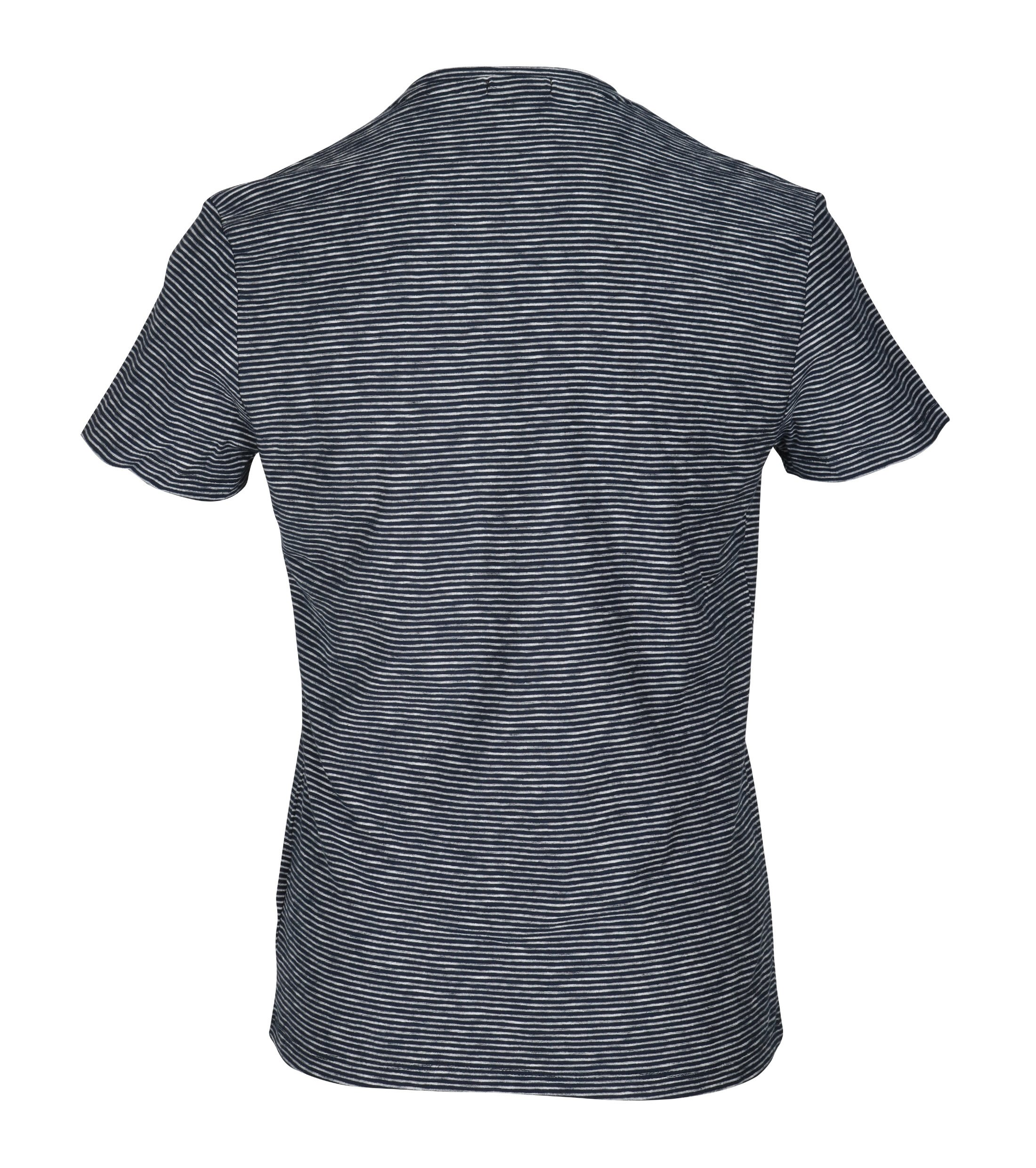 New in Town T-shirt Navy Streep foto 3