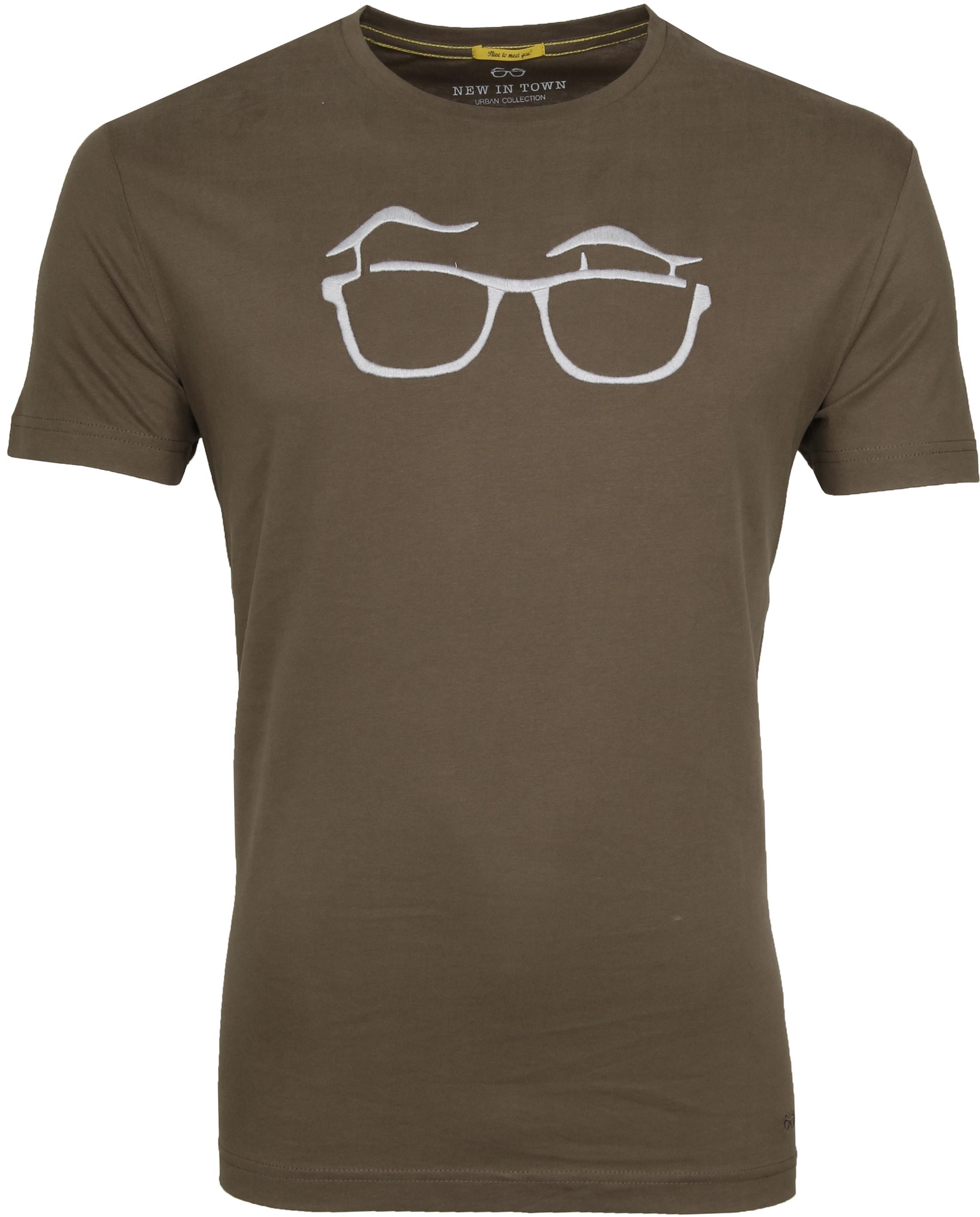 New in Town T-shirt Serafino Khaki foto 0