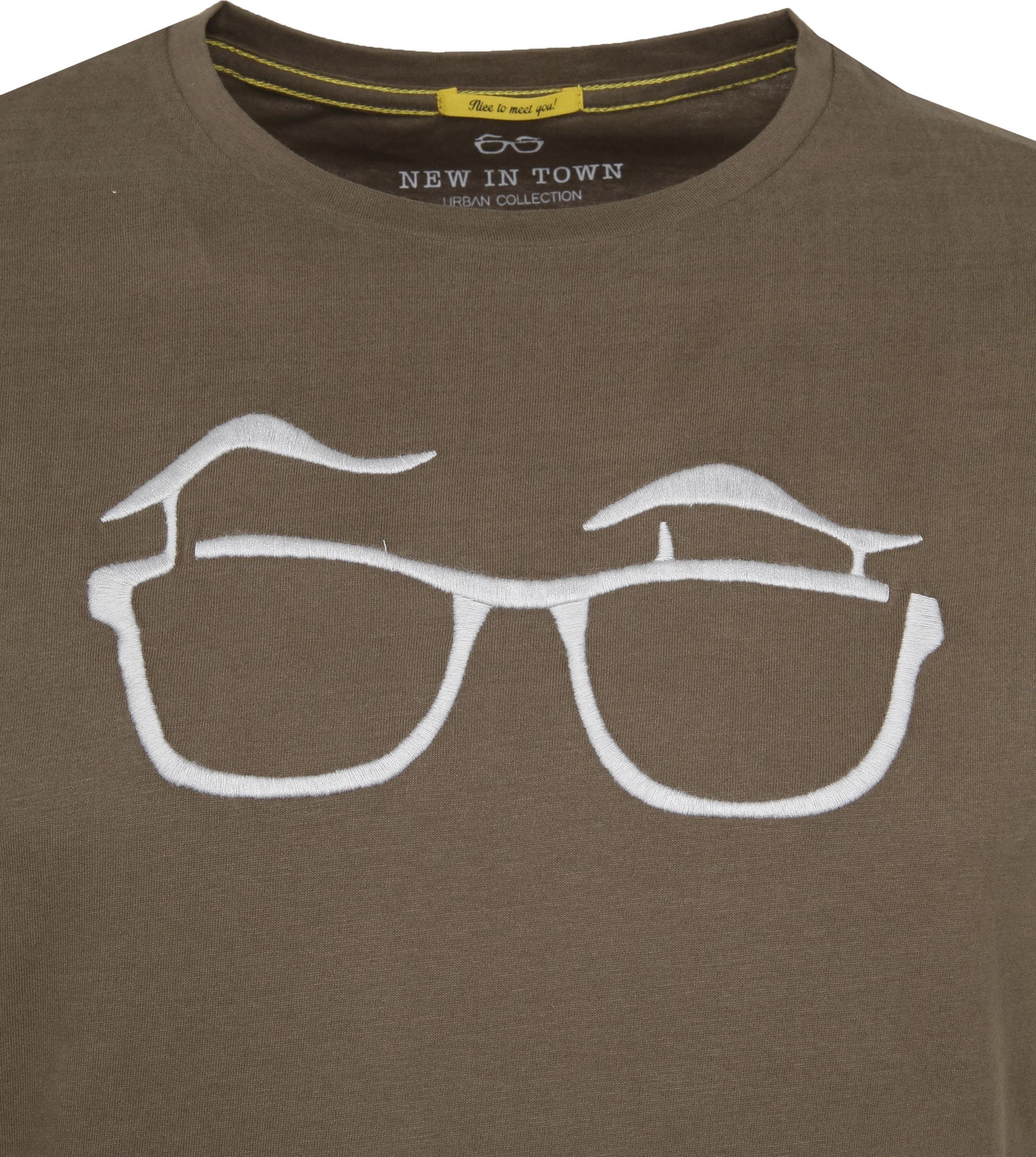 New in Town T-shirt Serafino Khaki foto 1