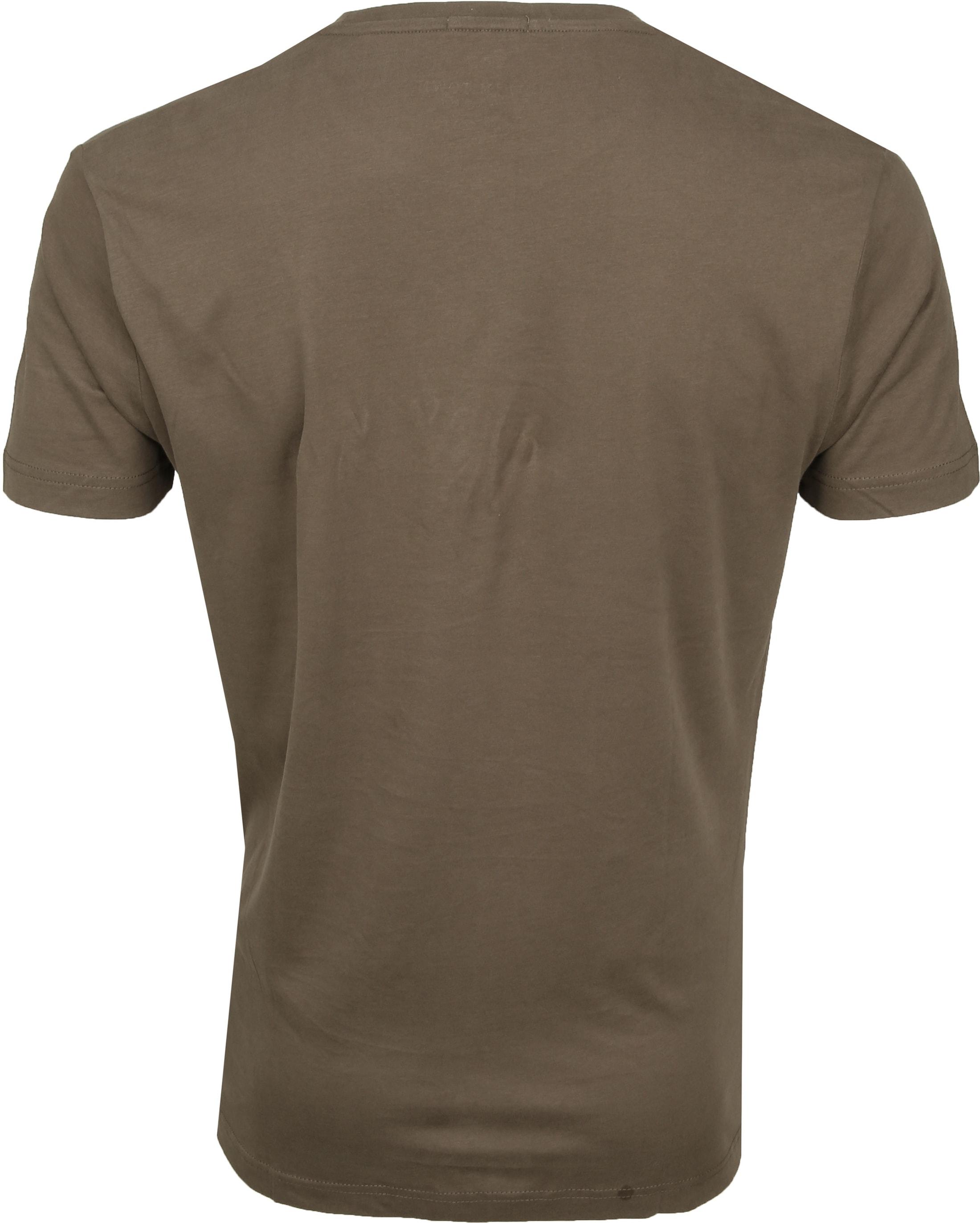 New in Town T-shirt Serafino Khaki foto 2