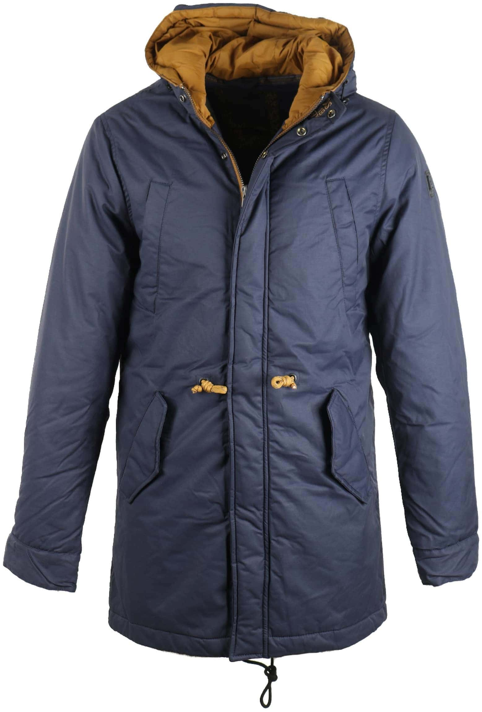 No-Excess Fishtail Parka Donkerblauw foto 0