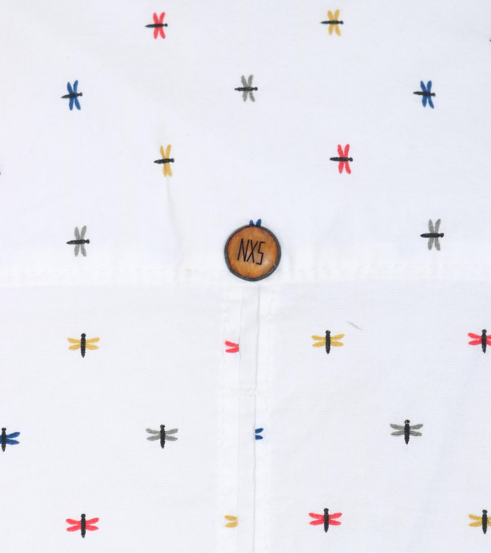 No-Excess Freizeithemd Print Weiß foto 2