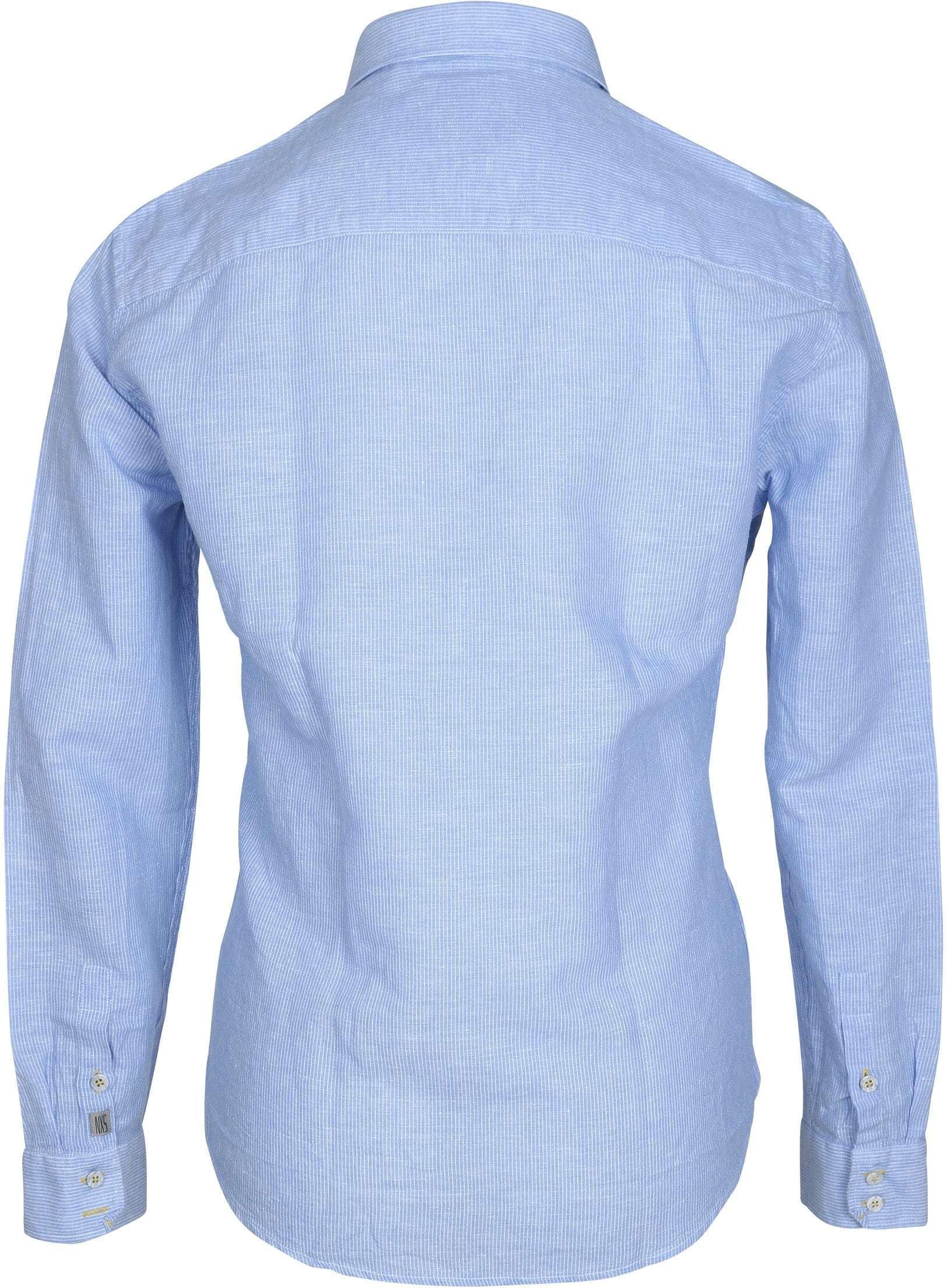 No-Excess Hemd Blau Streifen foto 3