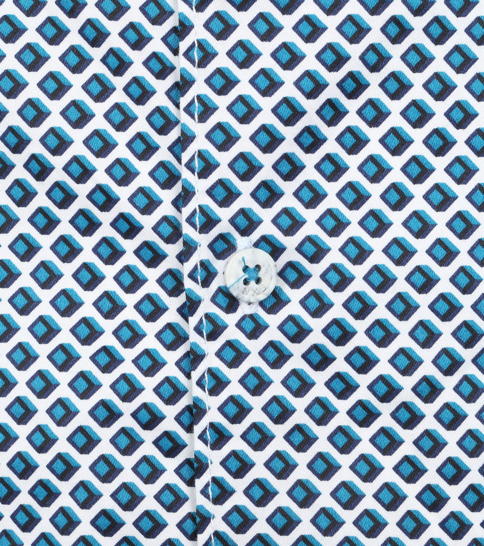 No-Excess Hemd Kubus Aqua Blauw
