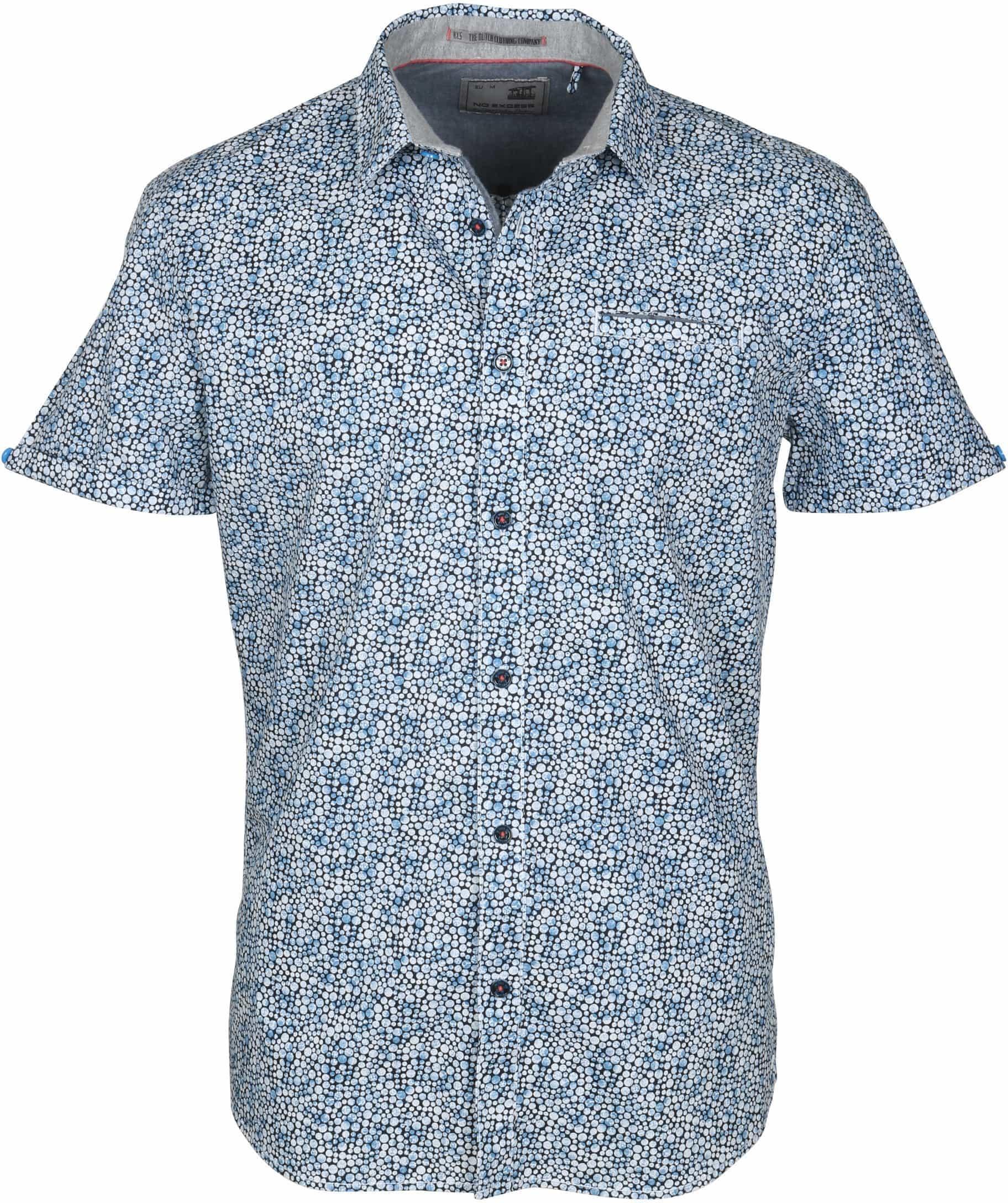 No-Excess Overhemd Blauw Stippen foto 0