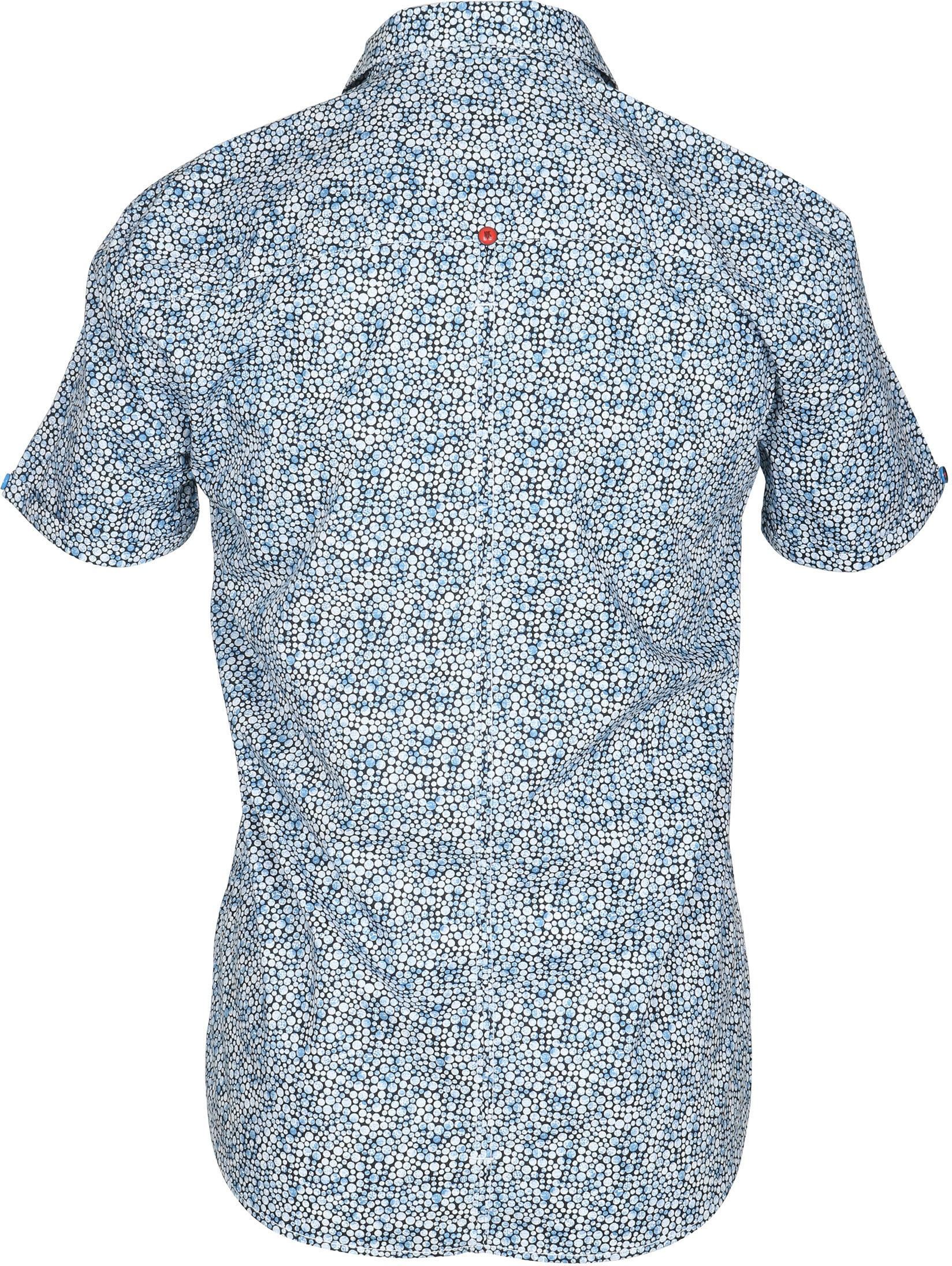 No-Excess Overhemd Blauw Stippen foto 3