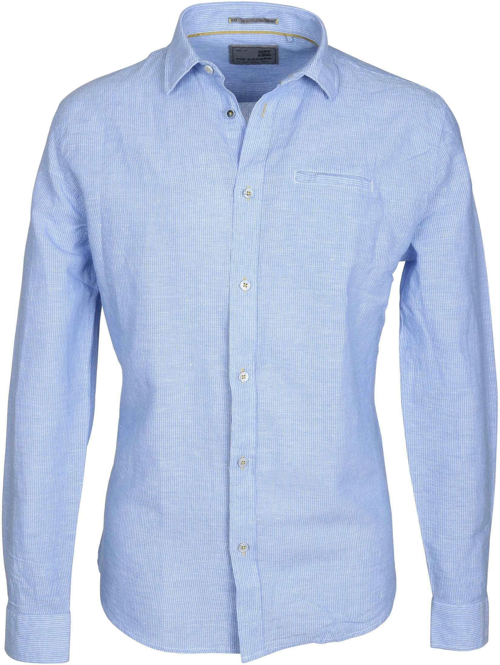 No-Excess Overhemd Blauw Streep foto 0