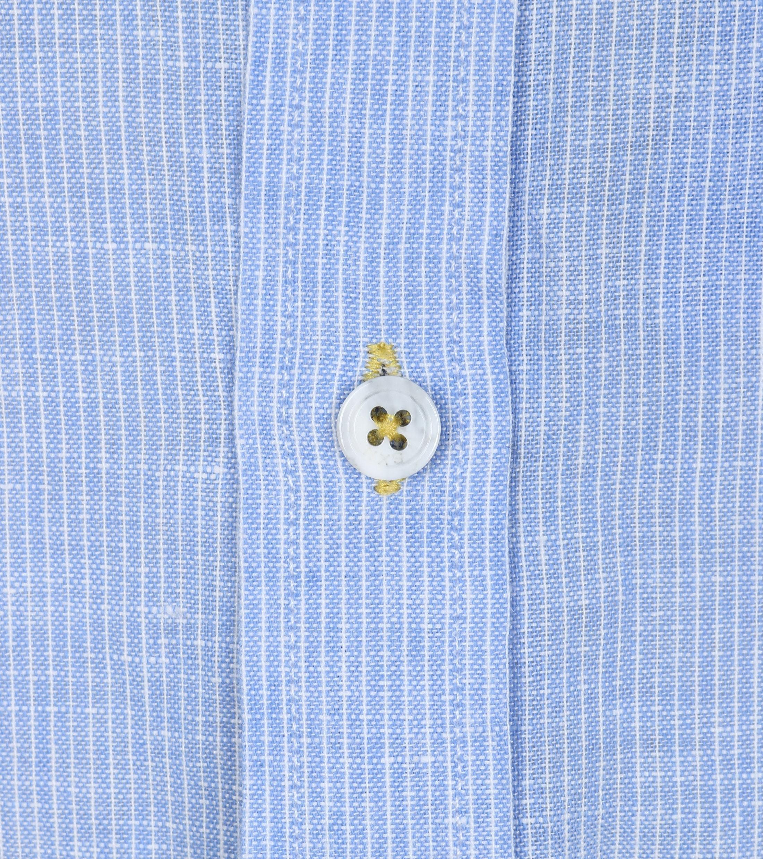 No-Excess Overhemd Blauw Streep foto 1