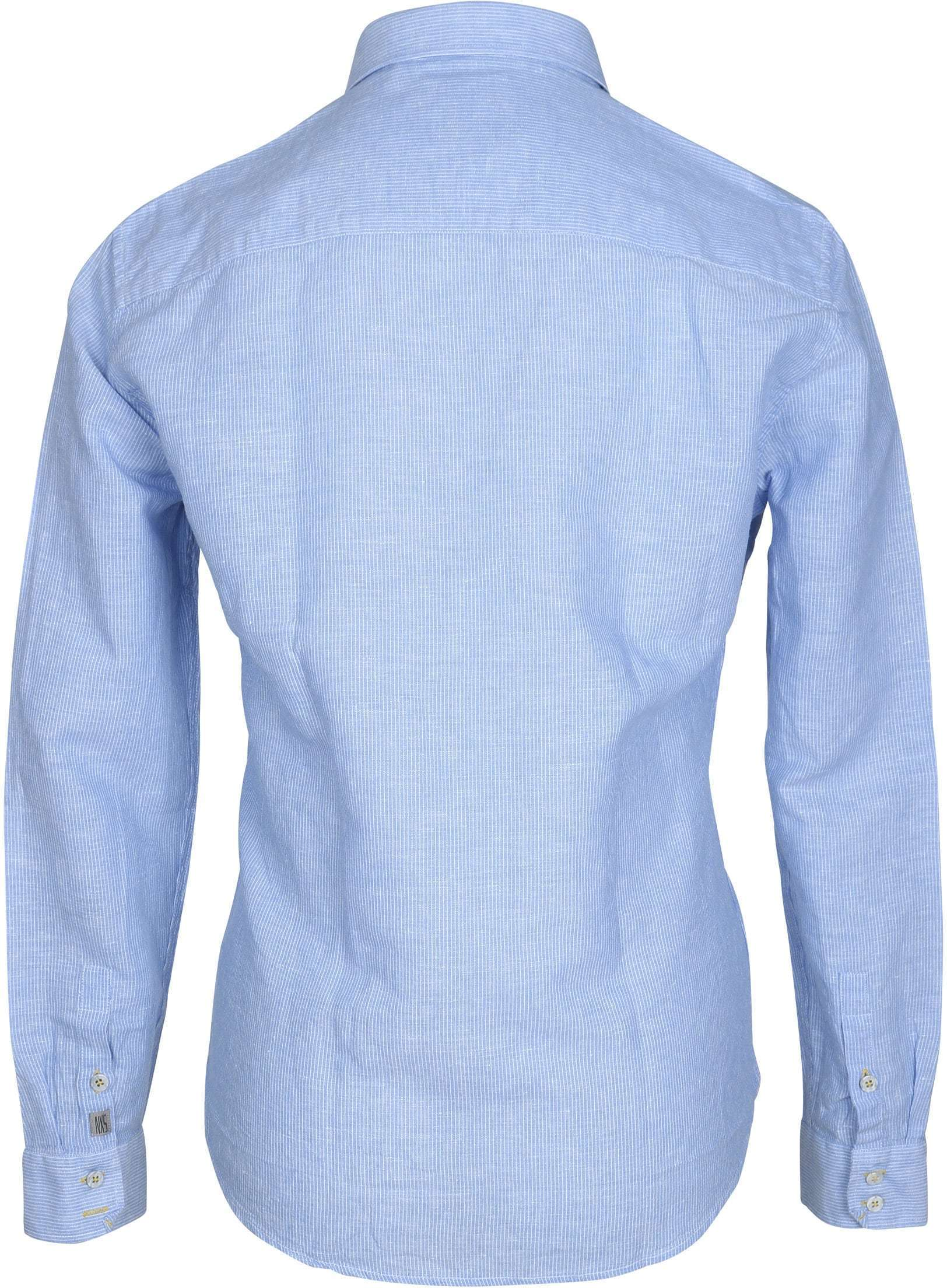 No-Excess Overhemd Blauw Streep foto 3