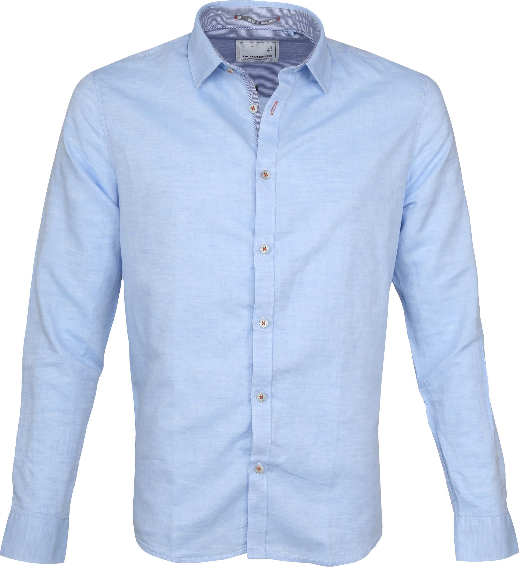 No-Excess Overhemd Lichtblauw foto 0