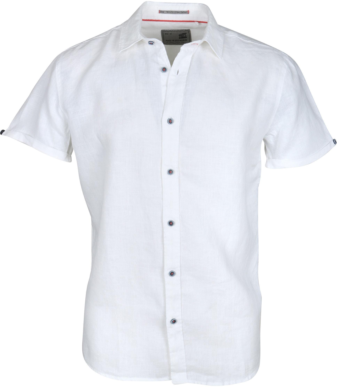 No-Excess Overhemd Linnen Korte Mouw Wit foto 0