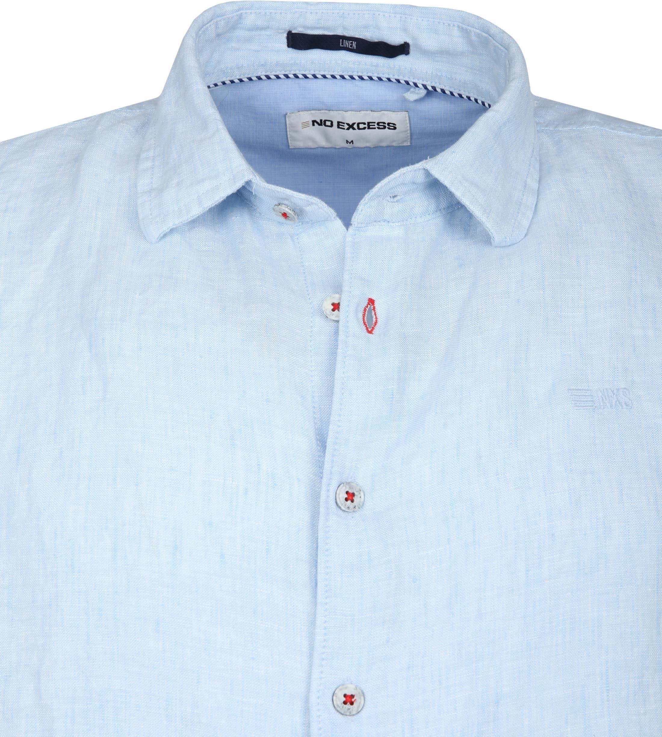No-Excess Overhemd Linnen Lichtblauw