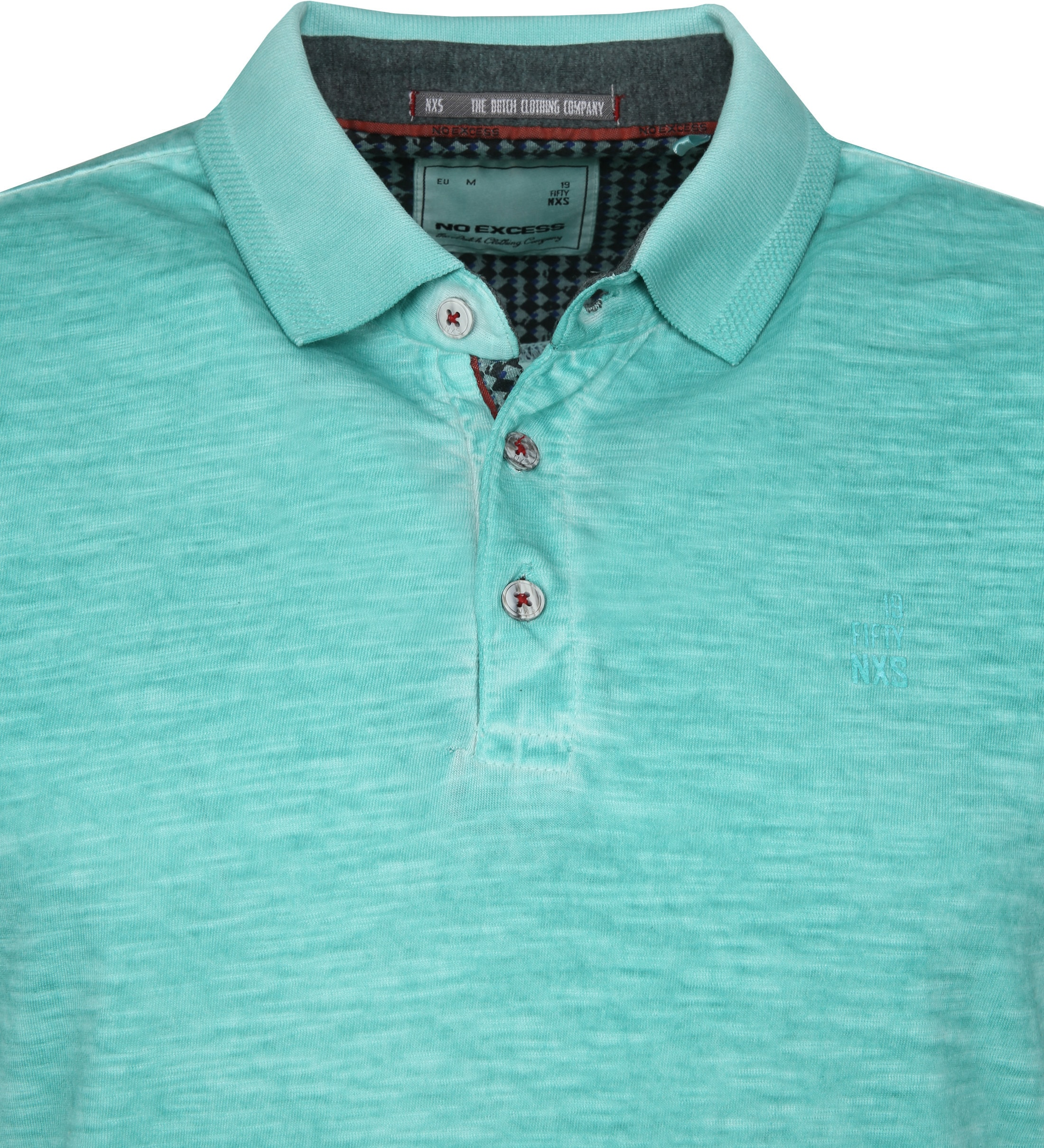 No Excess Polo Cold Dyed Turquoise foto 1