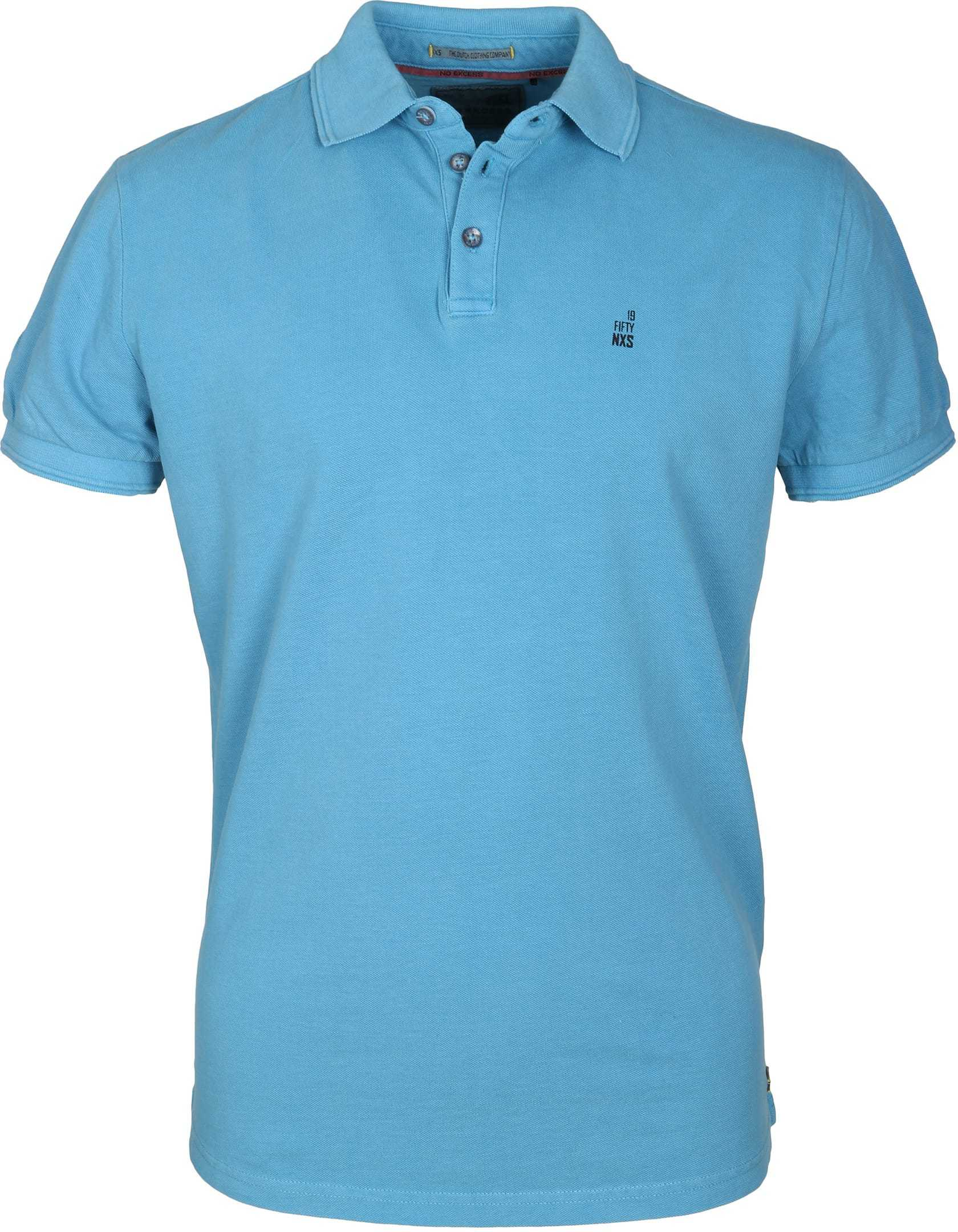 No-Excess Polo Pique Blauw foto 0