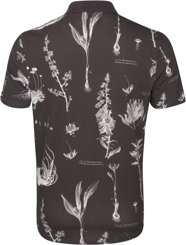 No-Excess Polo Pique Bloemen Zwart