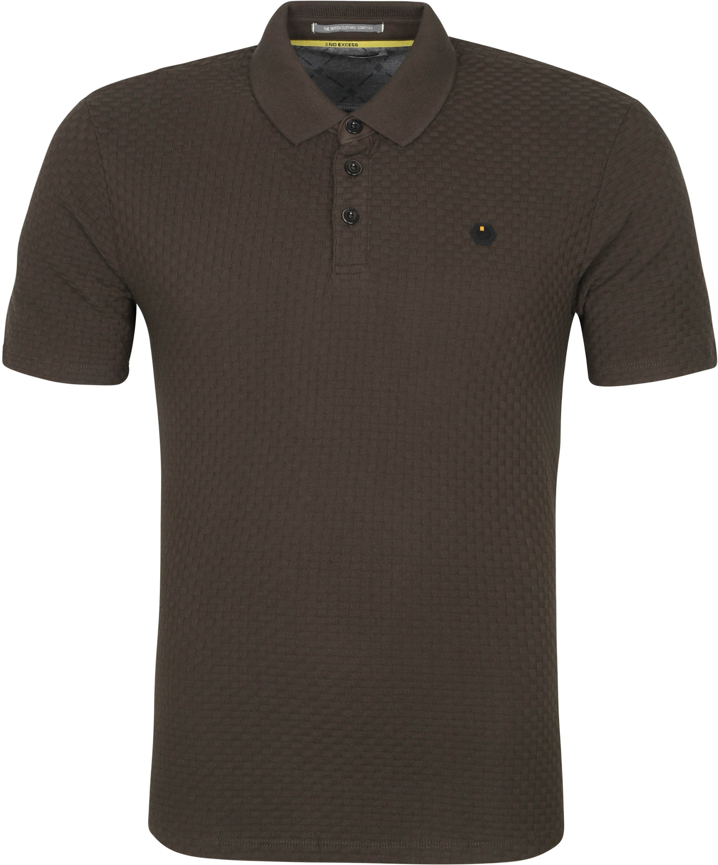 No-Excess Polo Solid Jacquard Donkergroen