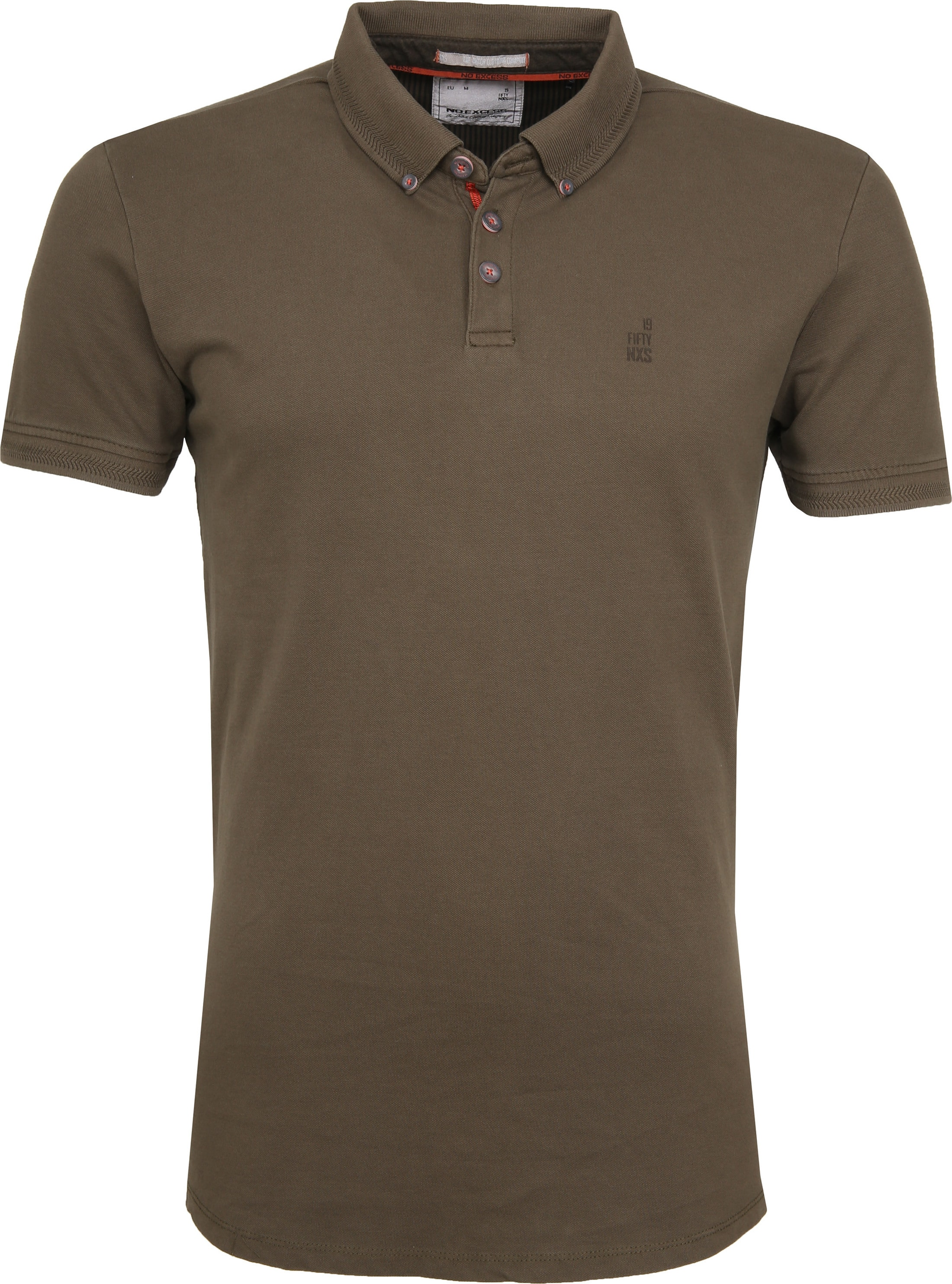 No Excess Poloshirt Stretch Army foto 0