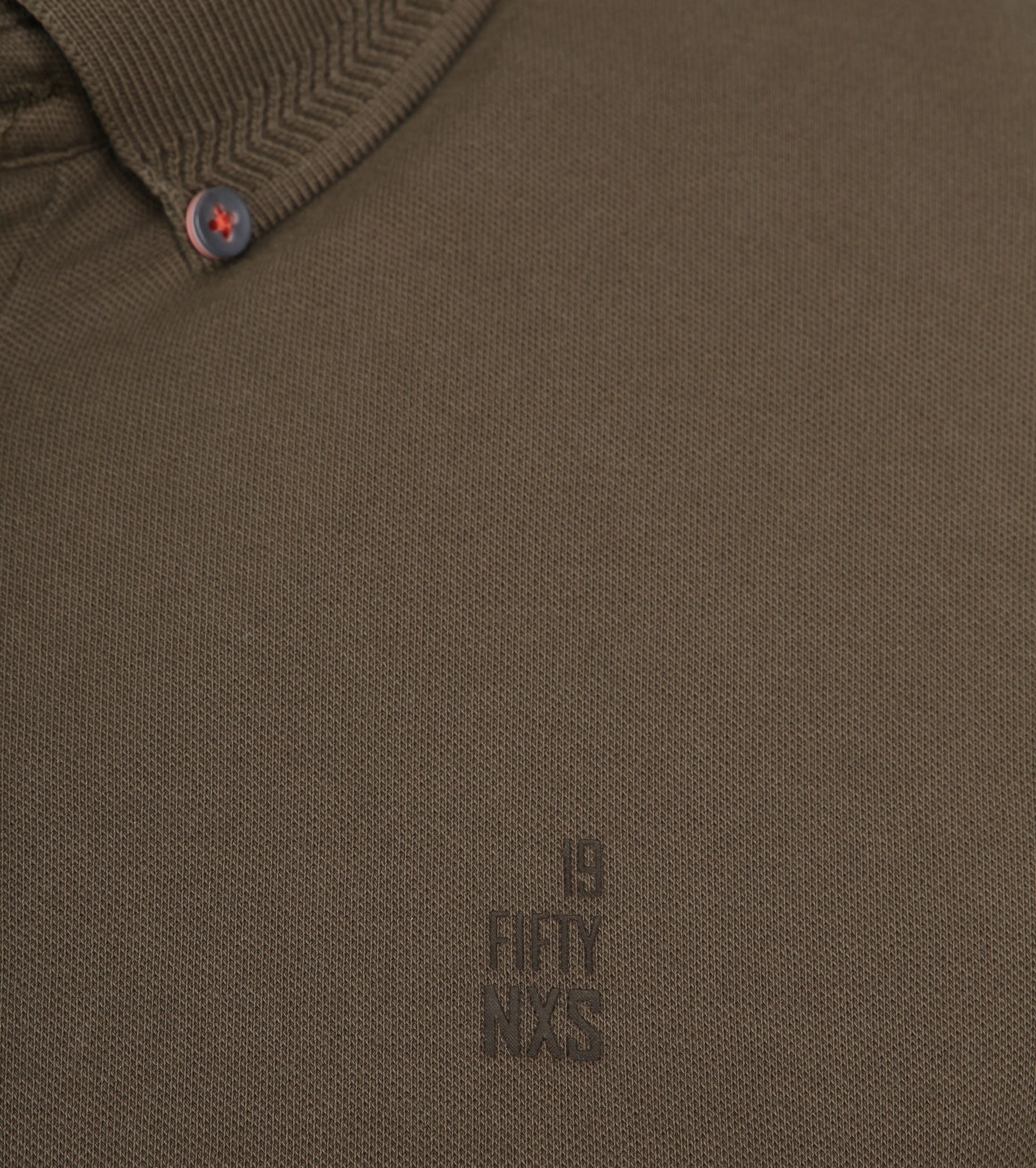 No Excess Poloshirt Stretch Army foto 2