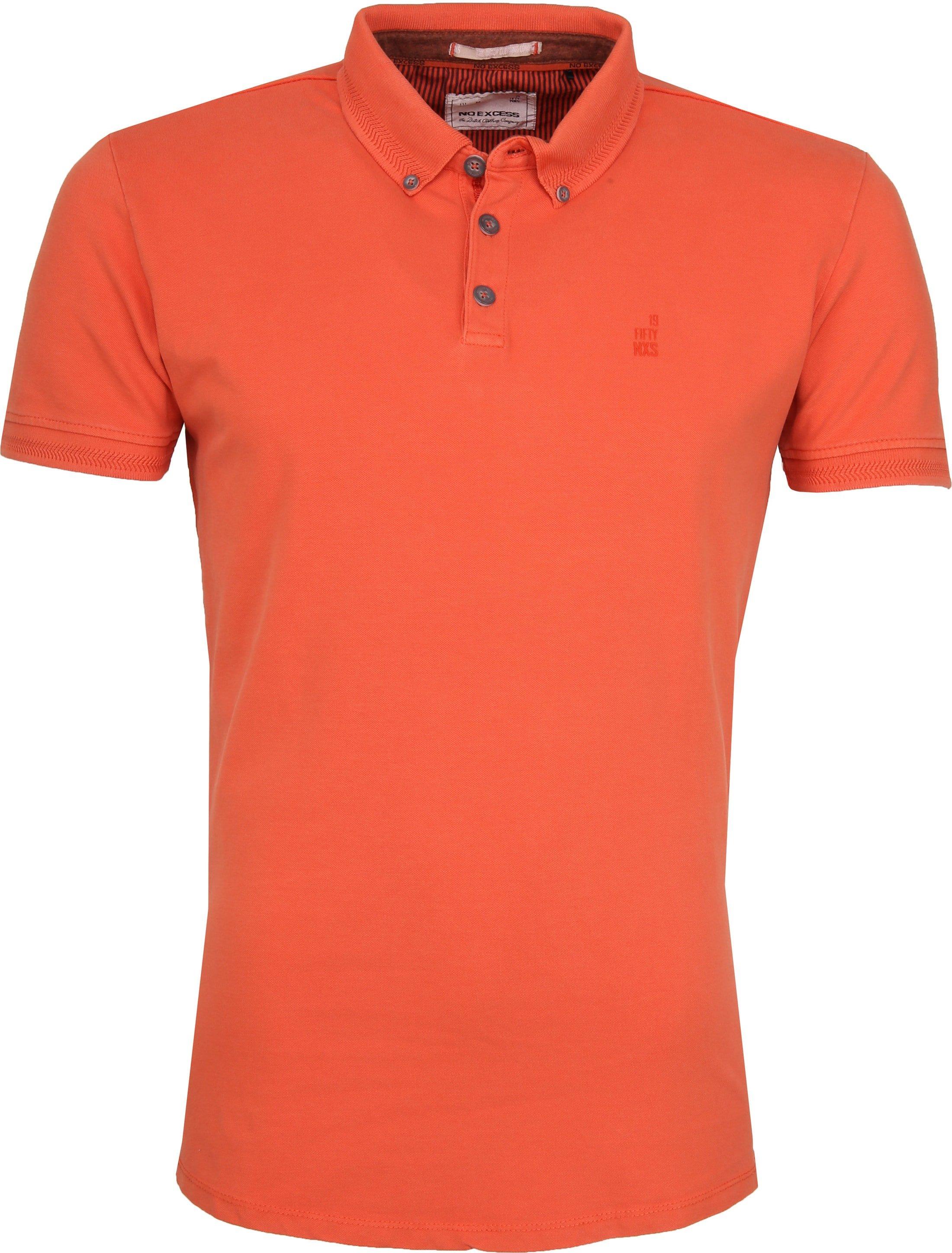 No Excess Poloshirt Stretch Oranje foto 0
