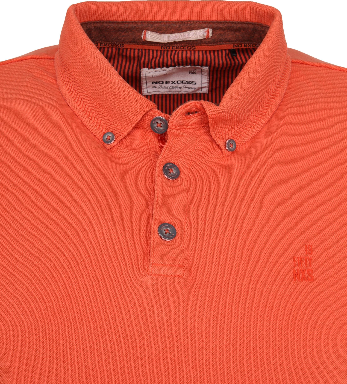 No Excess Poloshirt Stretch Oranje foto 1