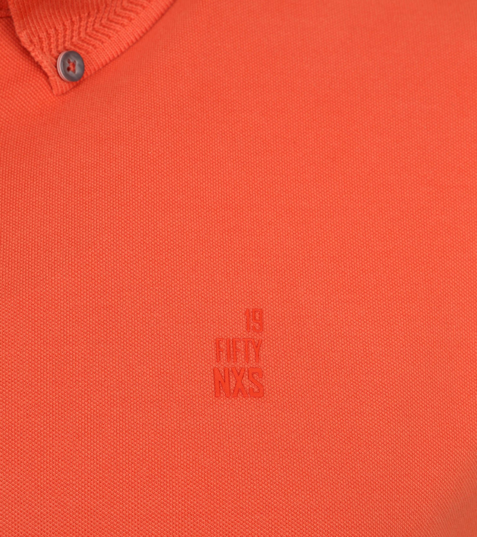 No Excess Poloshirt Stretch Oranje foto 2