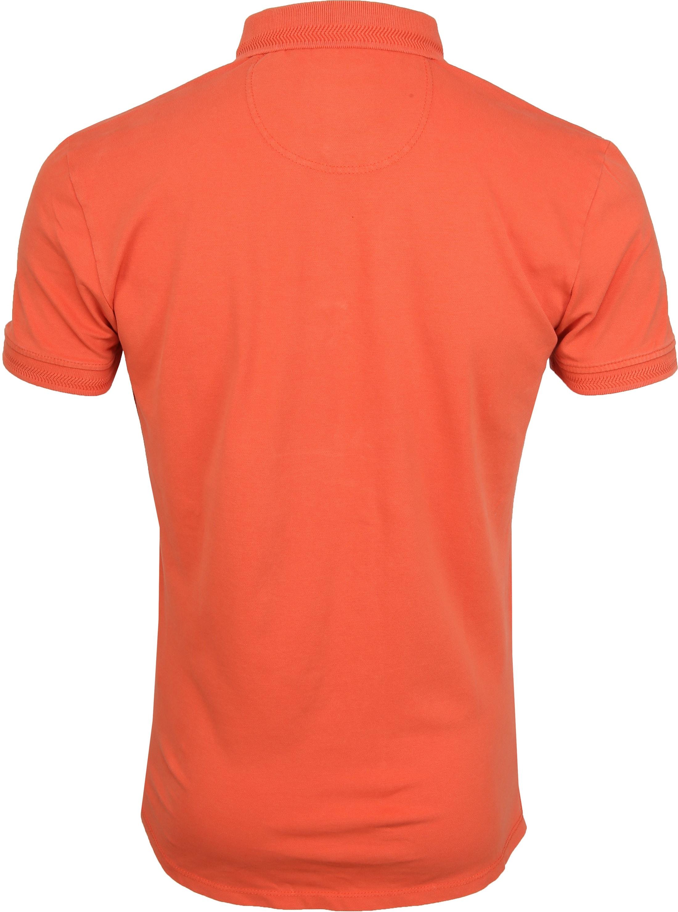 No Excess Poloshirt Stretch Oranje foto 3