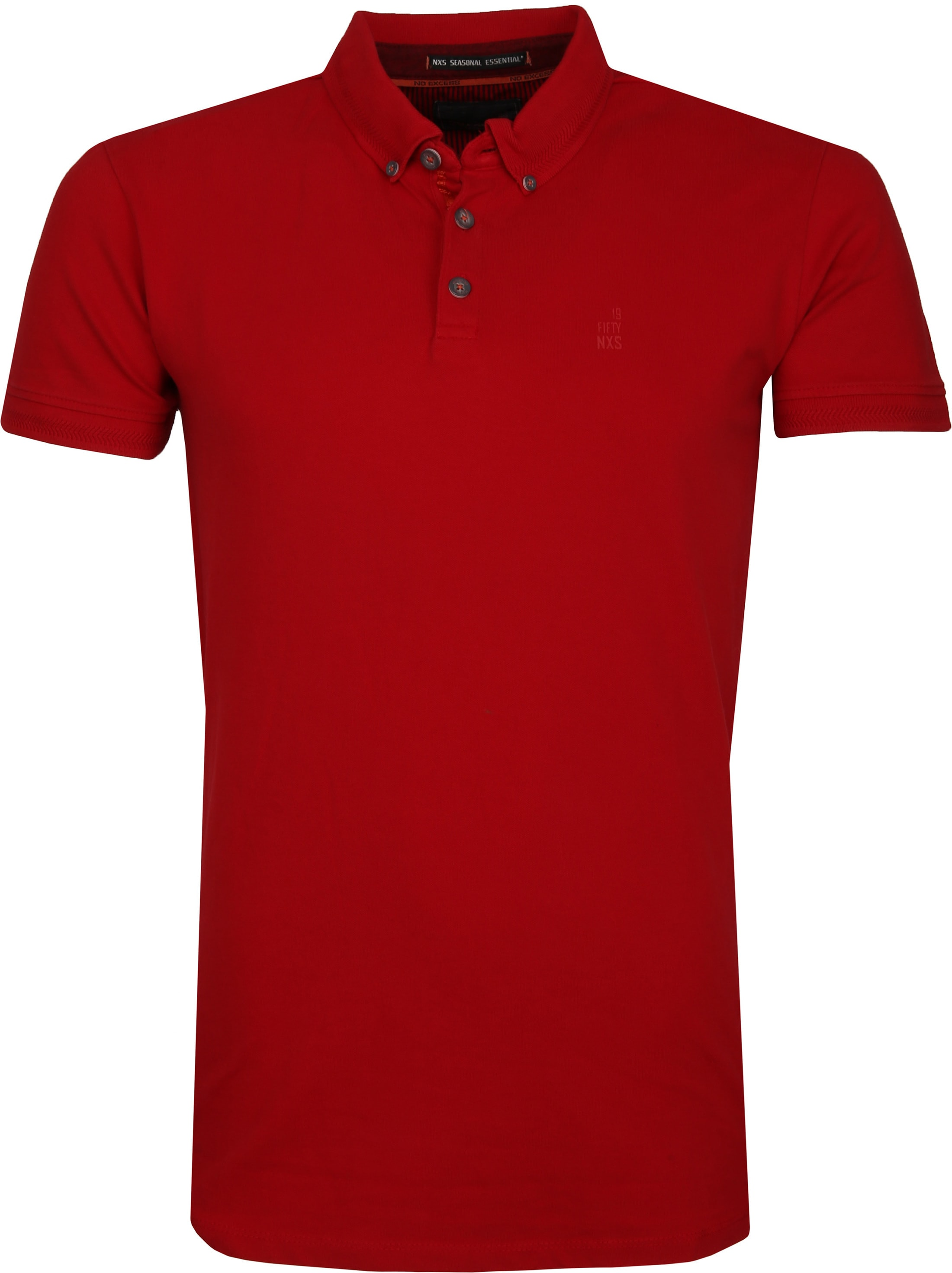 No Excess Poloshirt Stretch Rood foto 0