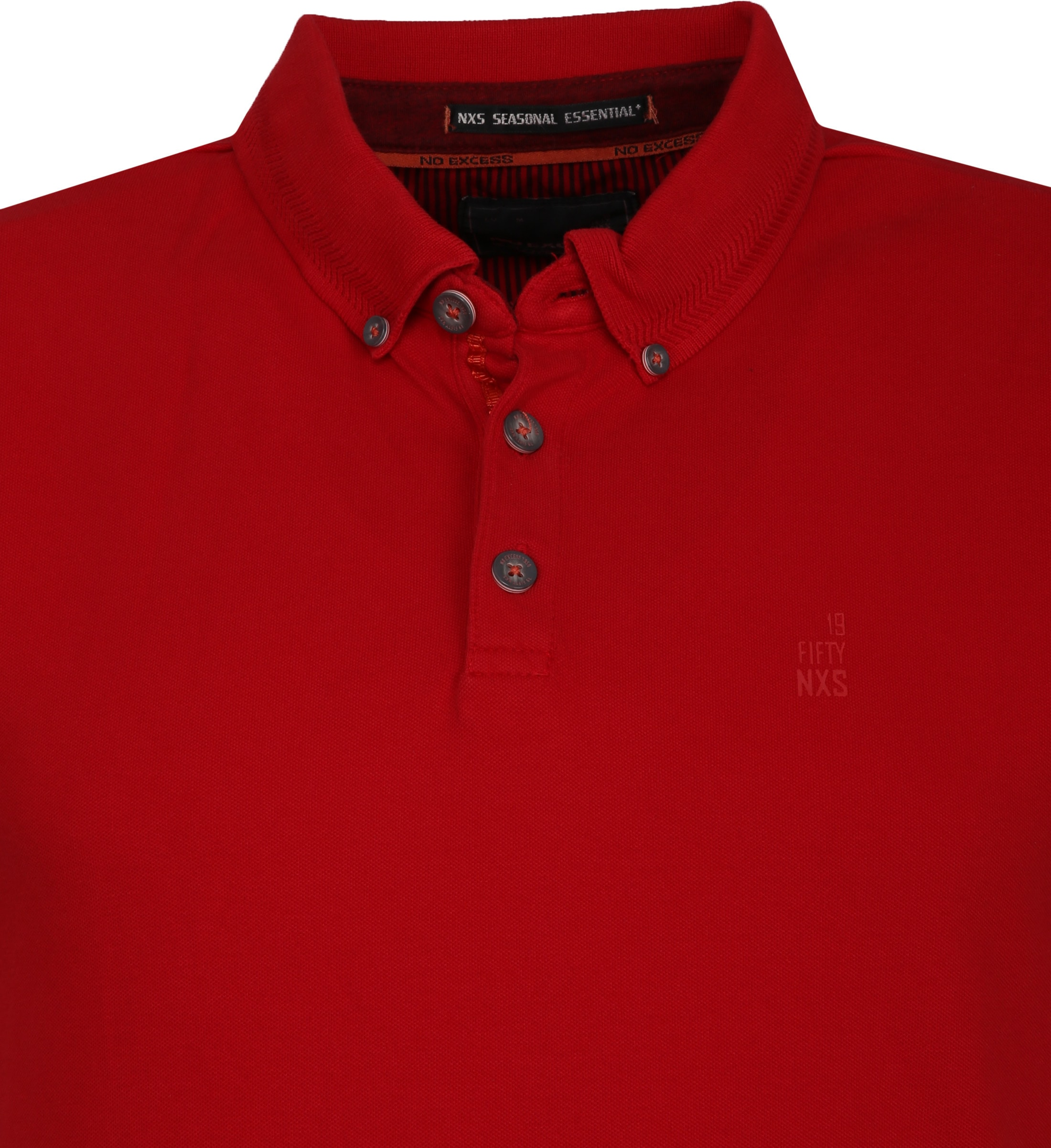 No Excess Poloshirt Stretch Rood foto 1