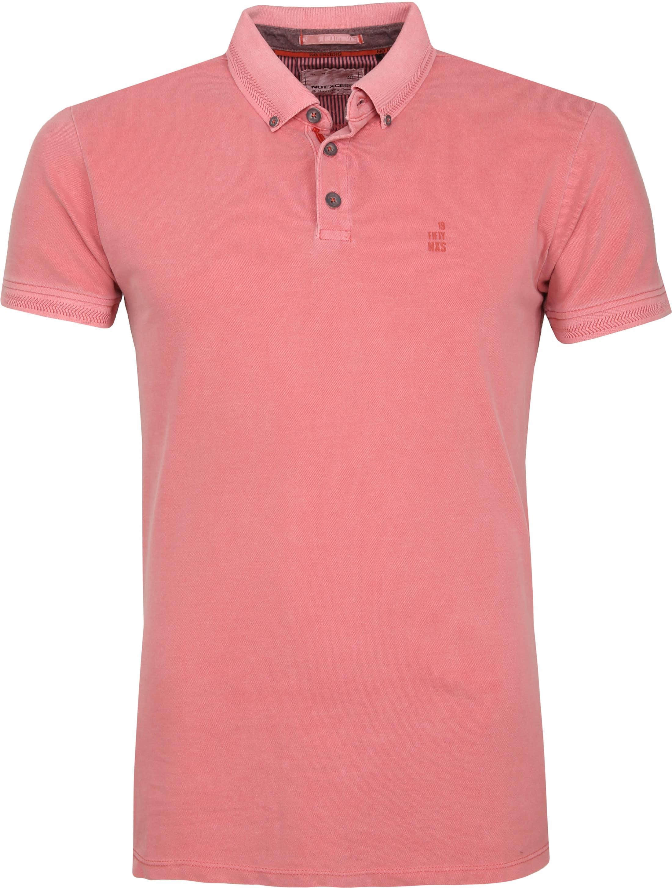 No Excess Poloshirt Stretch Roze foto 0