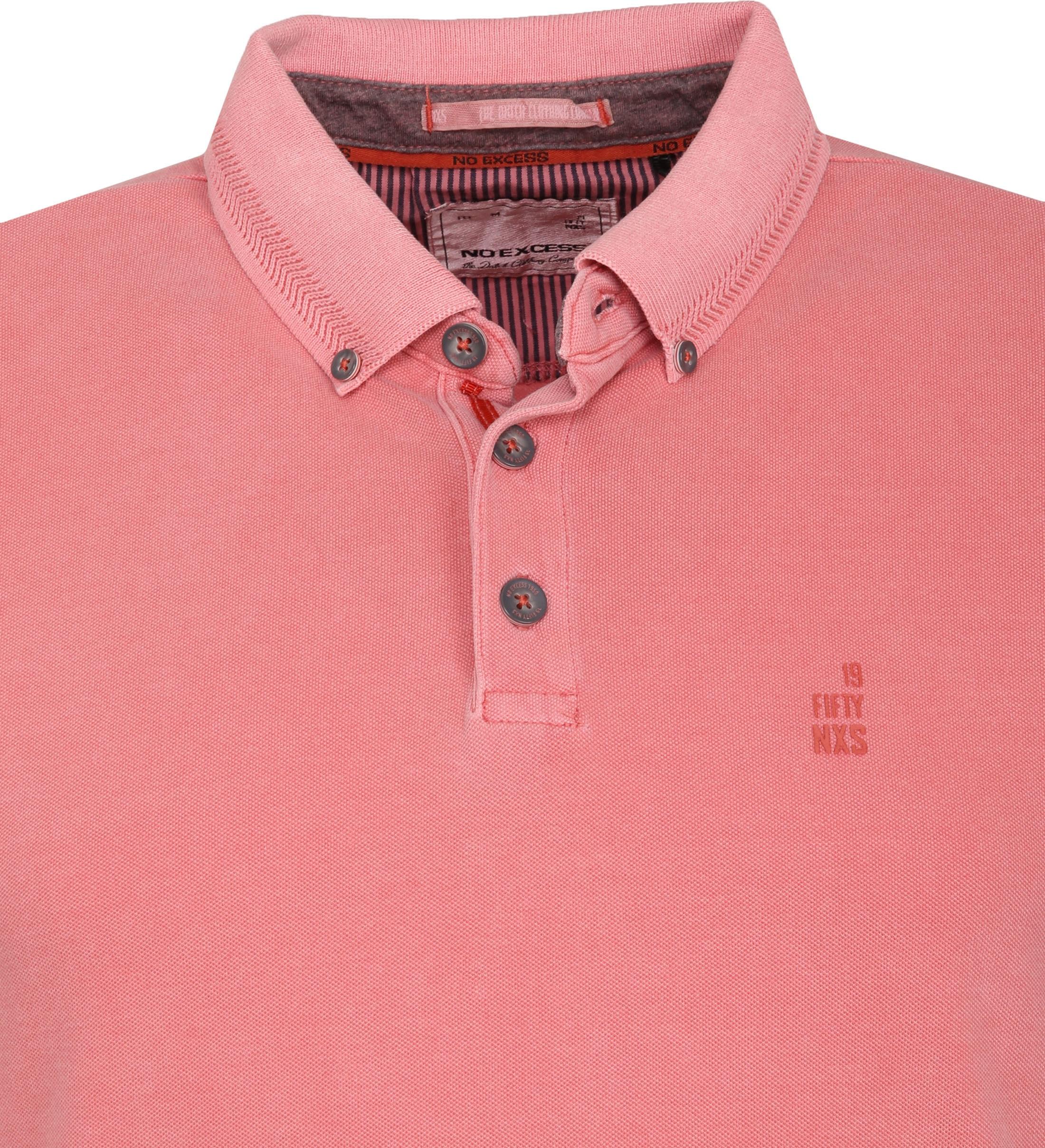 No Excess Poloshirt Stretch Roze foto 1