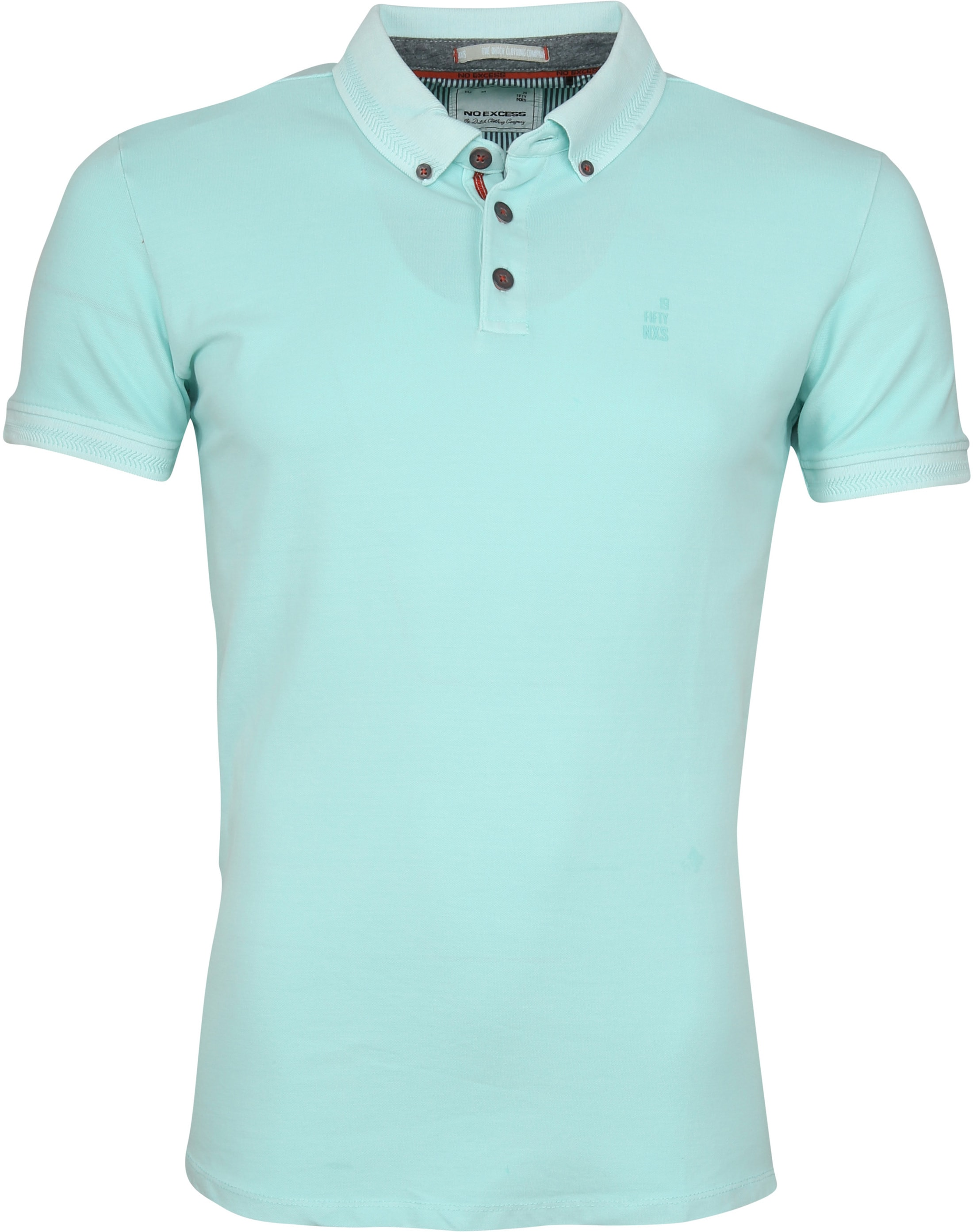 No Excess Poloshirt Stretch Turquoise foto 0