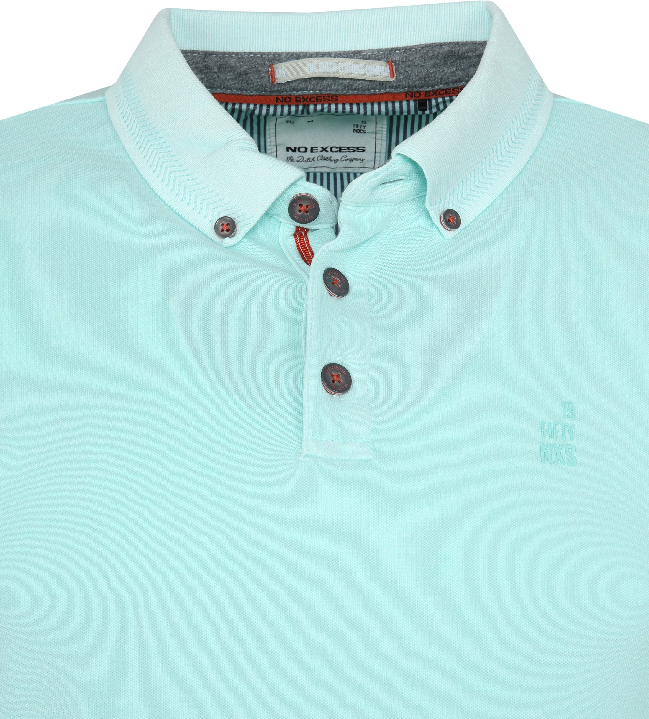 No Excess Poloshirt Stretch Turquoise foto 1