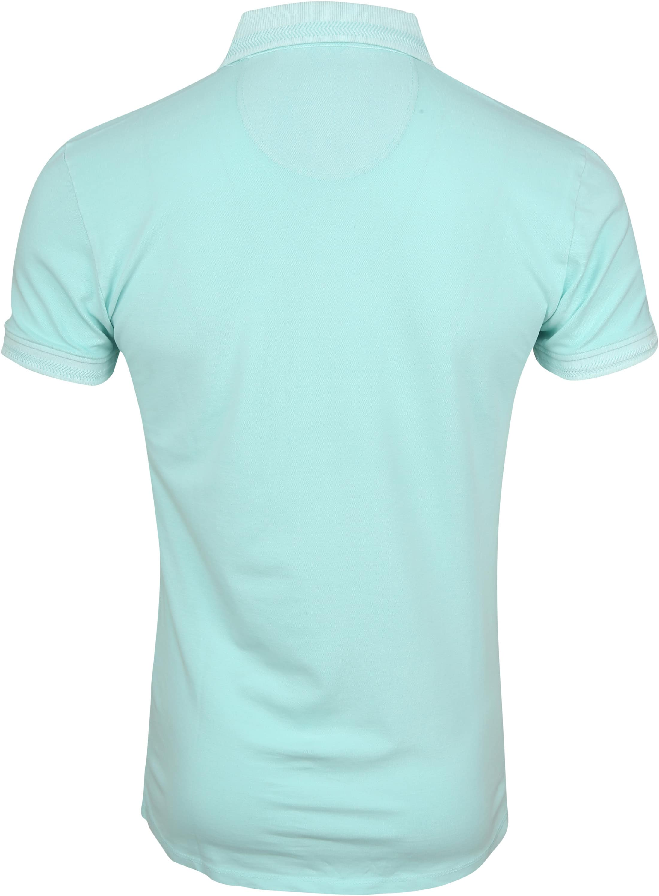 No Excess Poloshirt Stretch Turquoise foto 3
