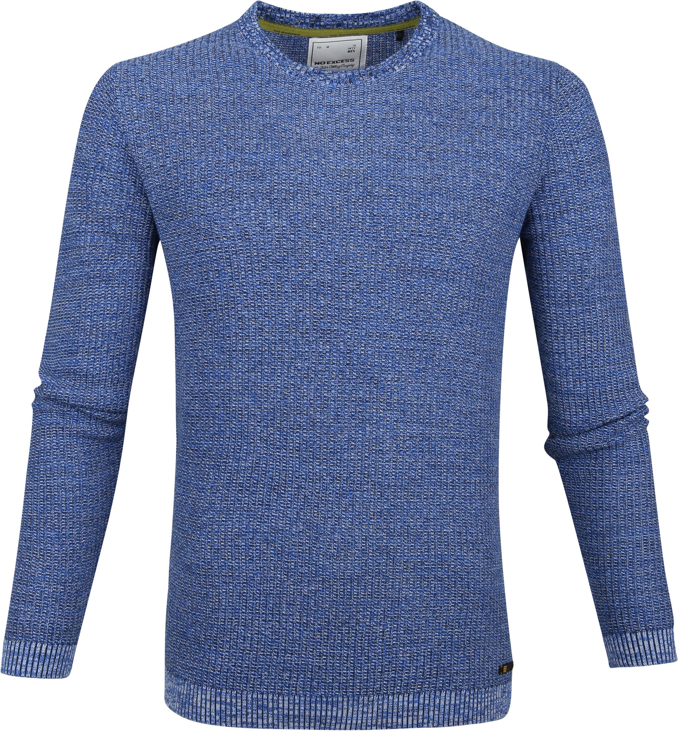 No-Excess Pullover Melange Blauw foto 0