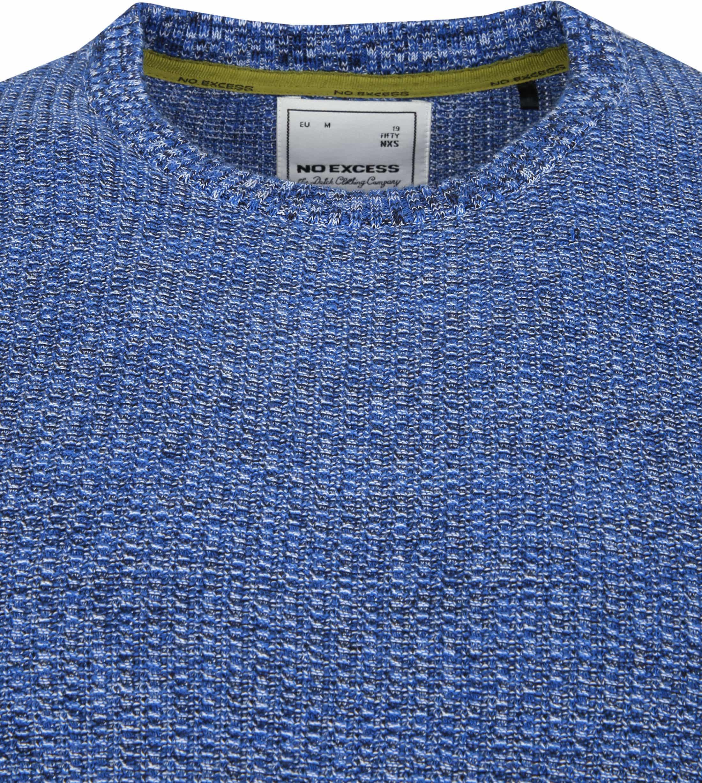 No-Excess Pullover Melange Blauw foto 1