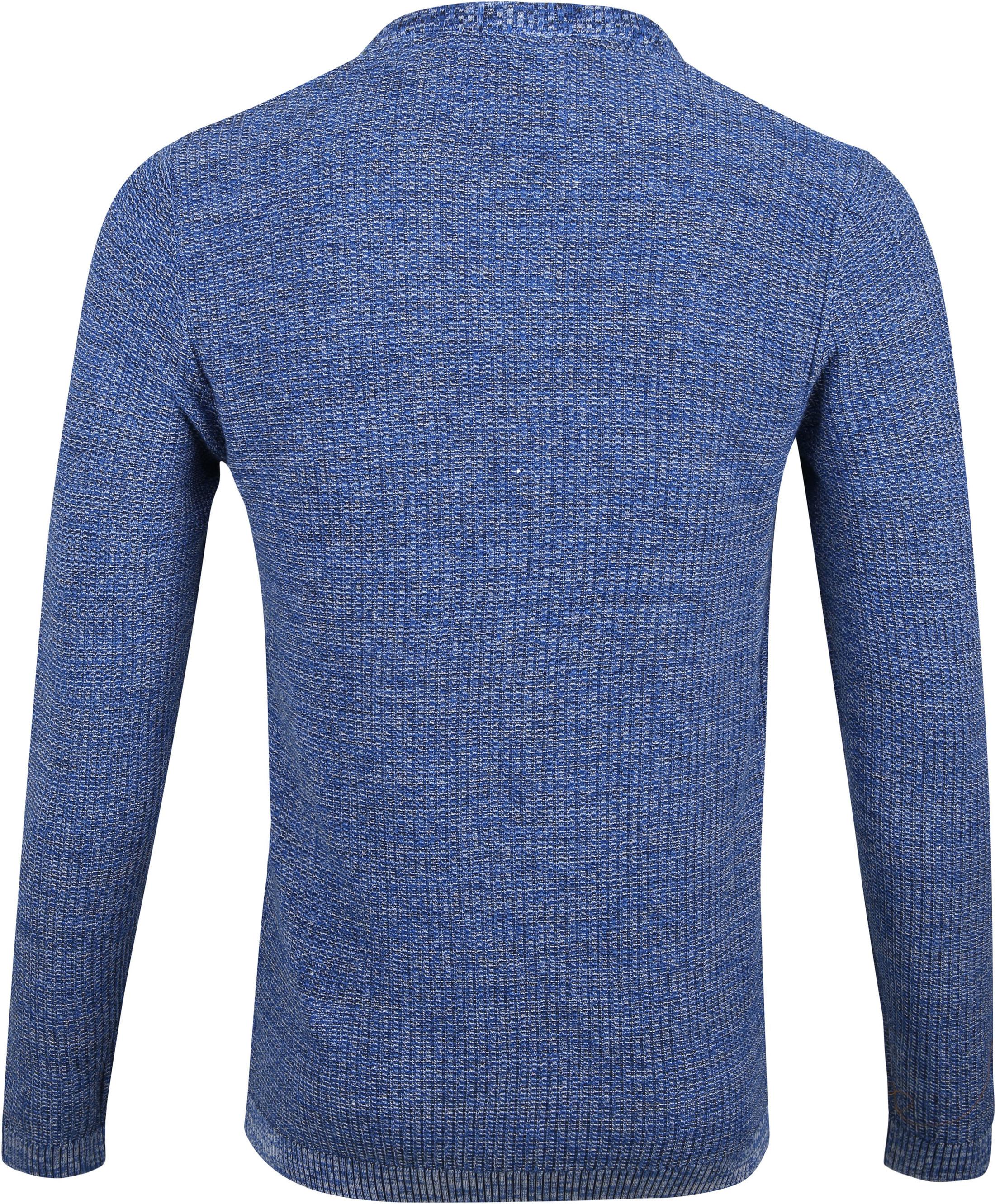 No-Excess Pullover Melange Blauw foto 3
