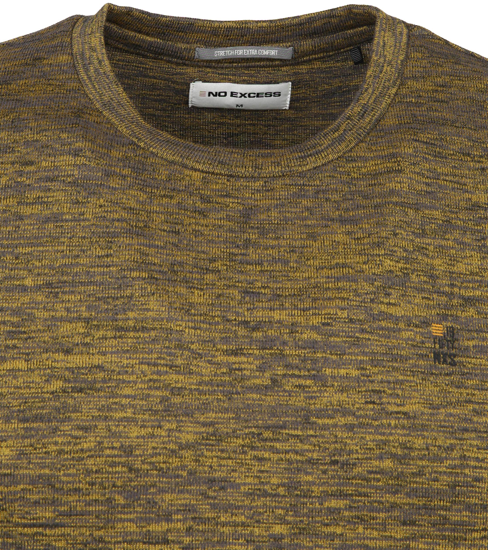 No-Excess Pullover Melange Geel - Goud maat XL