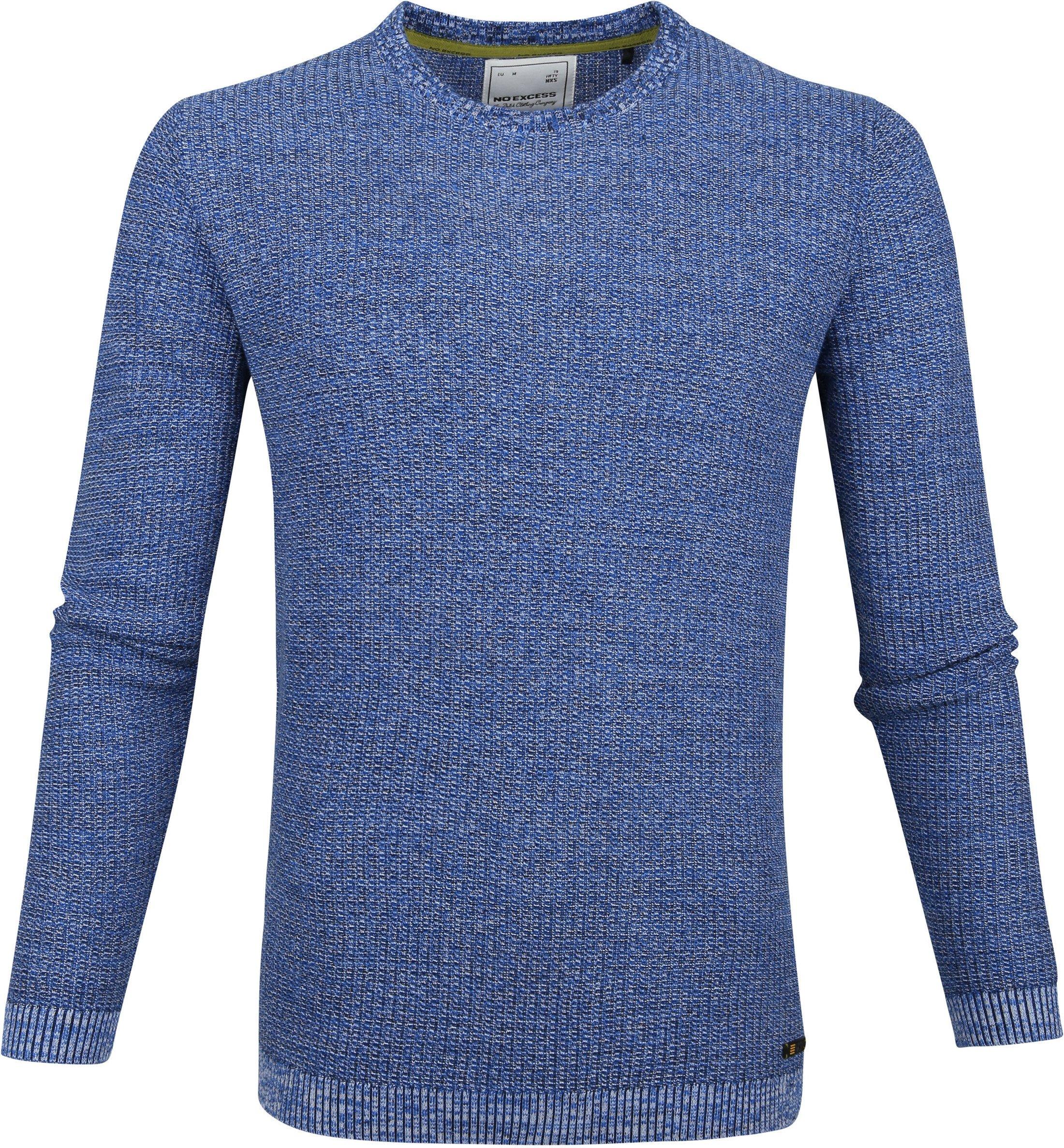 No-Excess Pullover Mischen Blau Foto 0