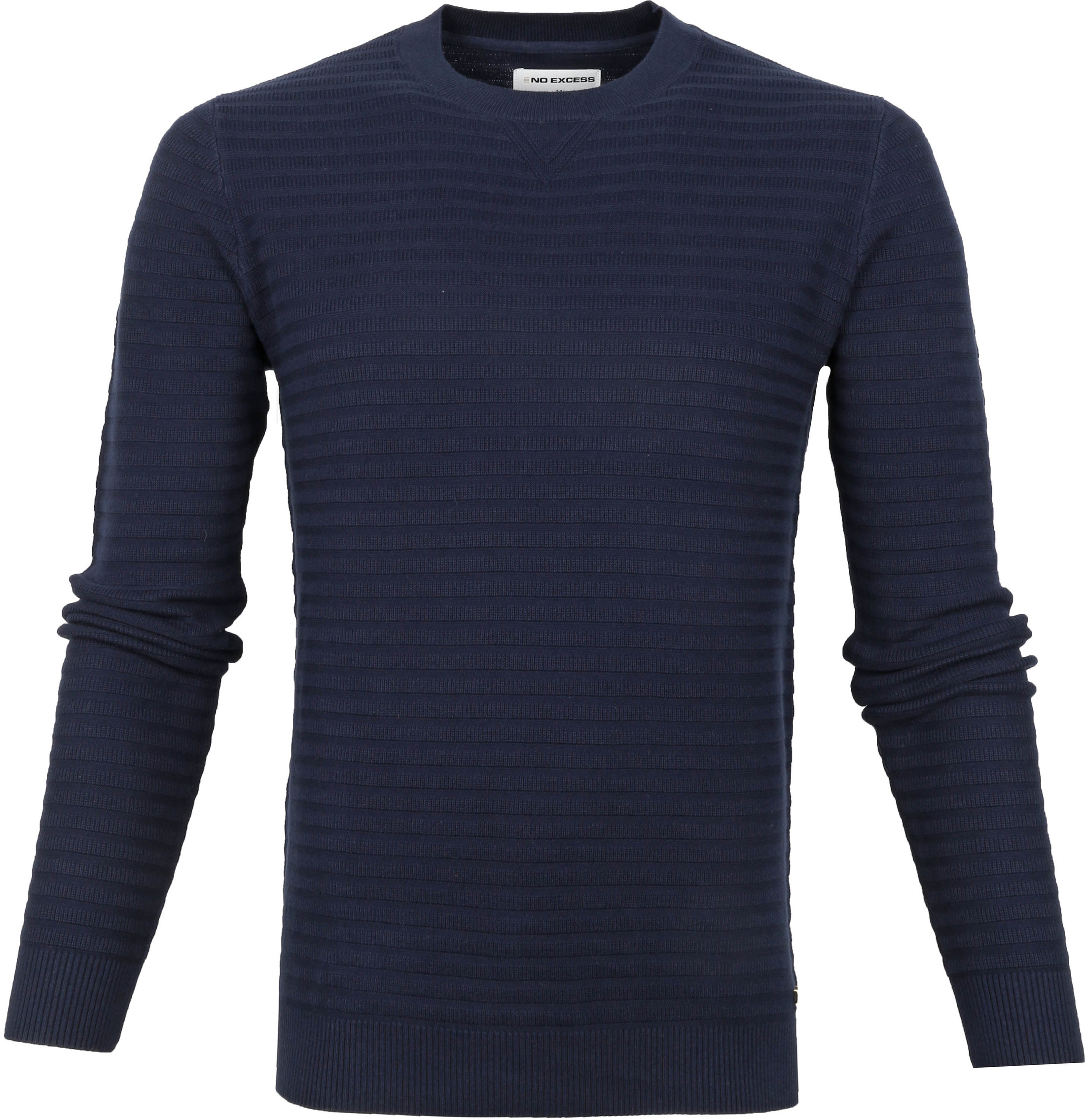 No-Excess Pullover Rib Donkerblauw