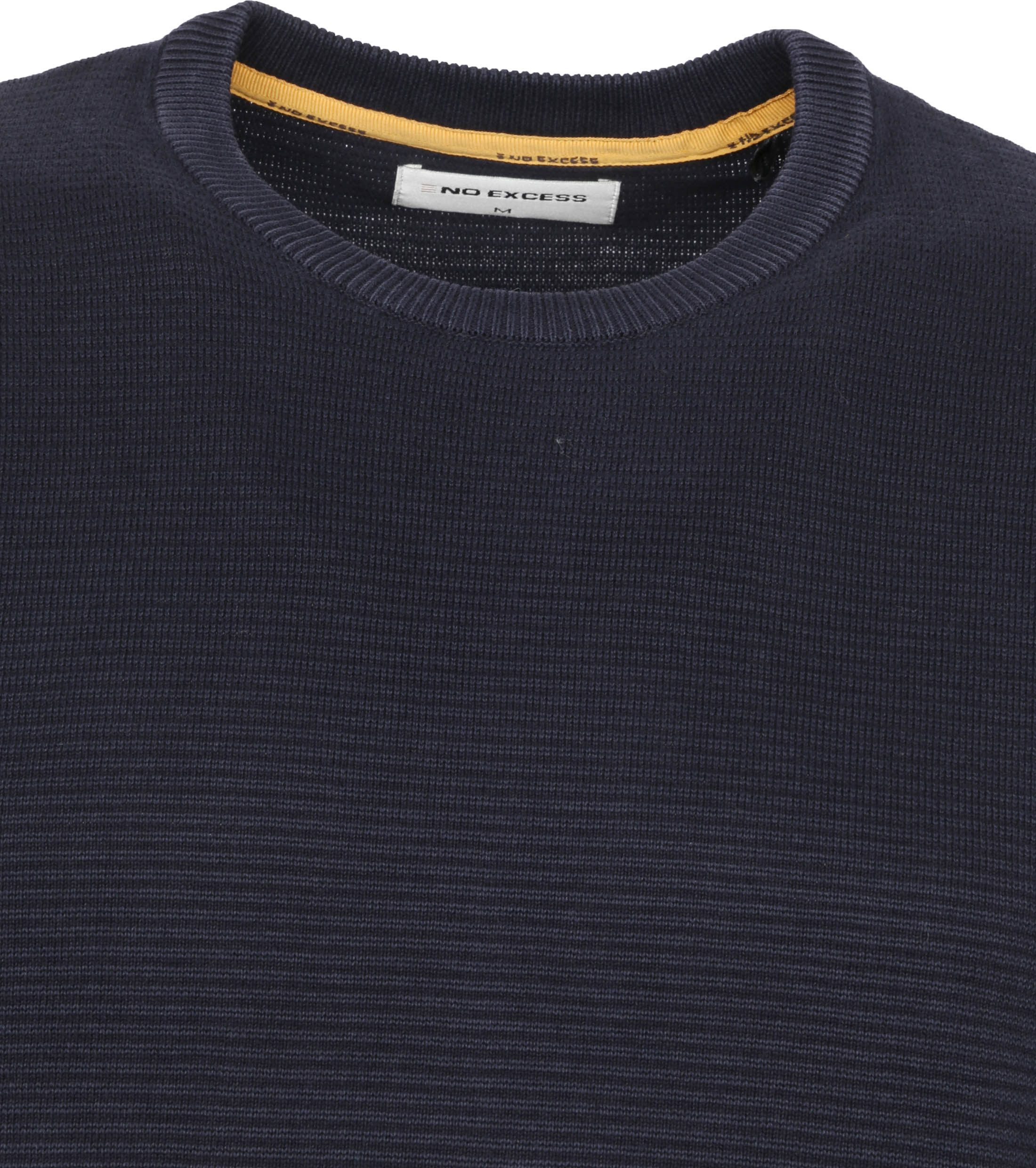 No-Excess Pullover Stone Washed Donkerblauw