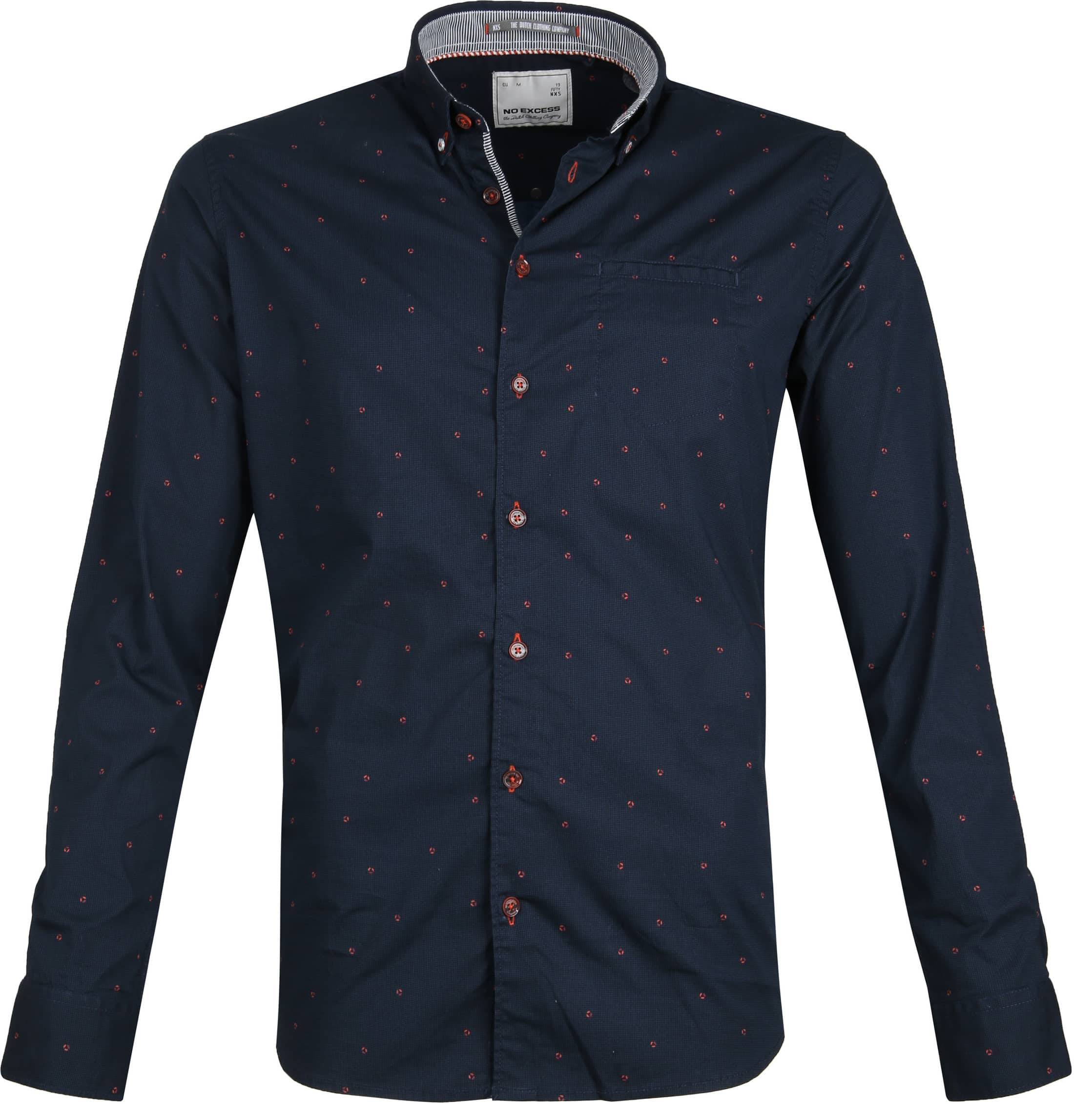 No-Excess Shirt Print Dark Blue photo 0