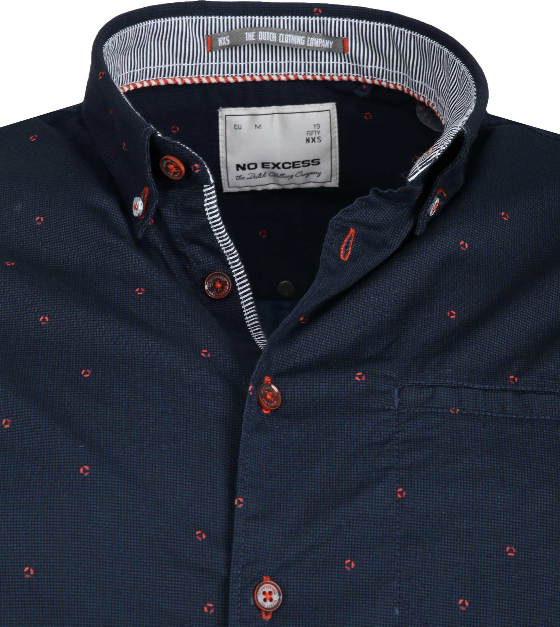 No-Excess Shirt Print Dark Blue photo 1