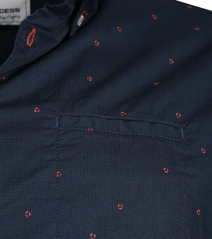 No-Excess Shirt Print Dark Blue photo 2