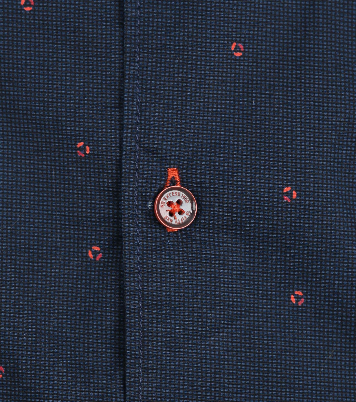 No-Excess Shirt Print Dark Blue photo 3