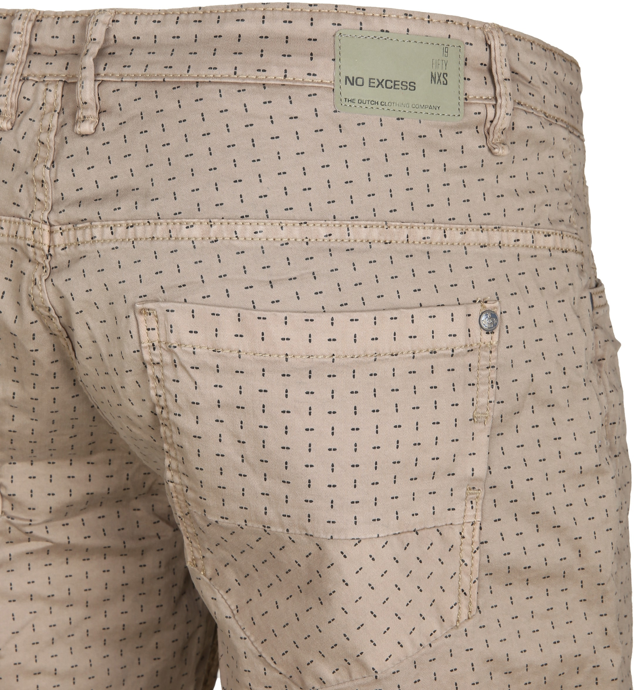 No-Excess Short Dyed Khaki foto 3