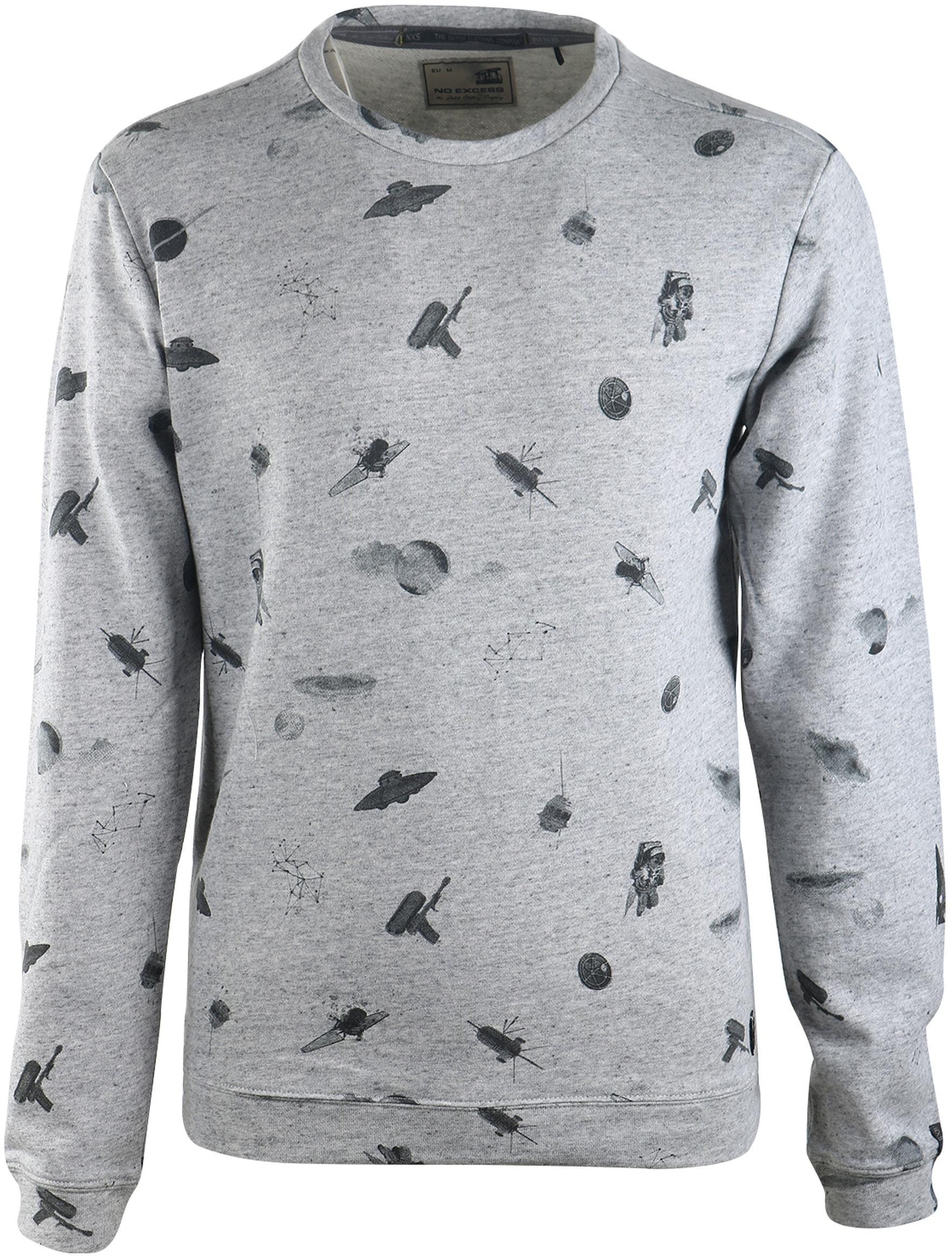 No-Excess Sweater Grijs Print foto 0