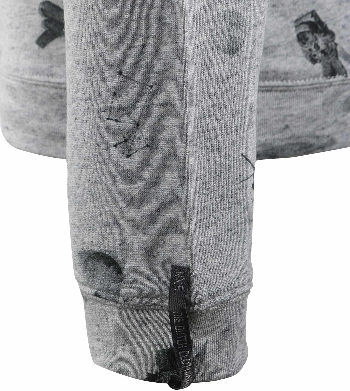 No-Excess Sweater Grijs Print foto 6